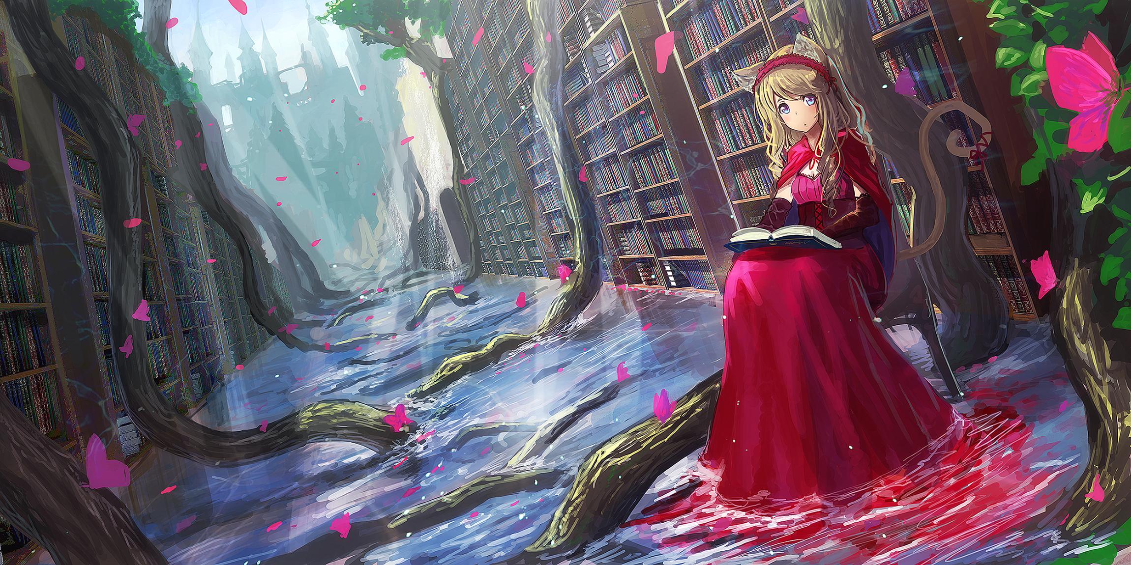 Fondos de pantalla : rubia, pelo largo, Anime, Chicas anime, Orejas ...