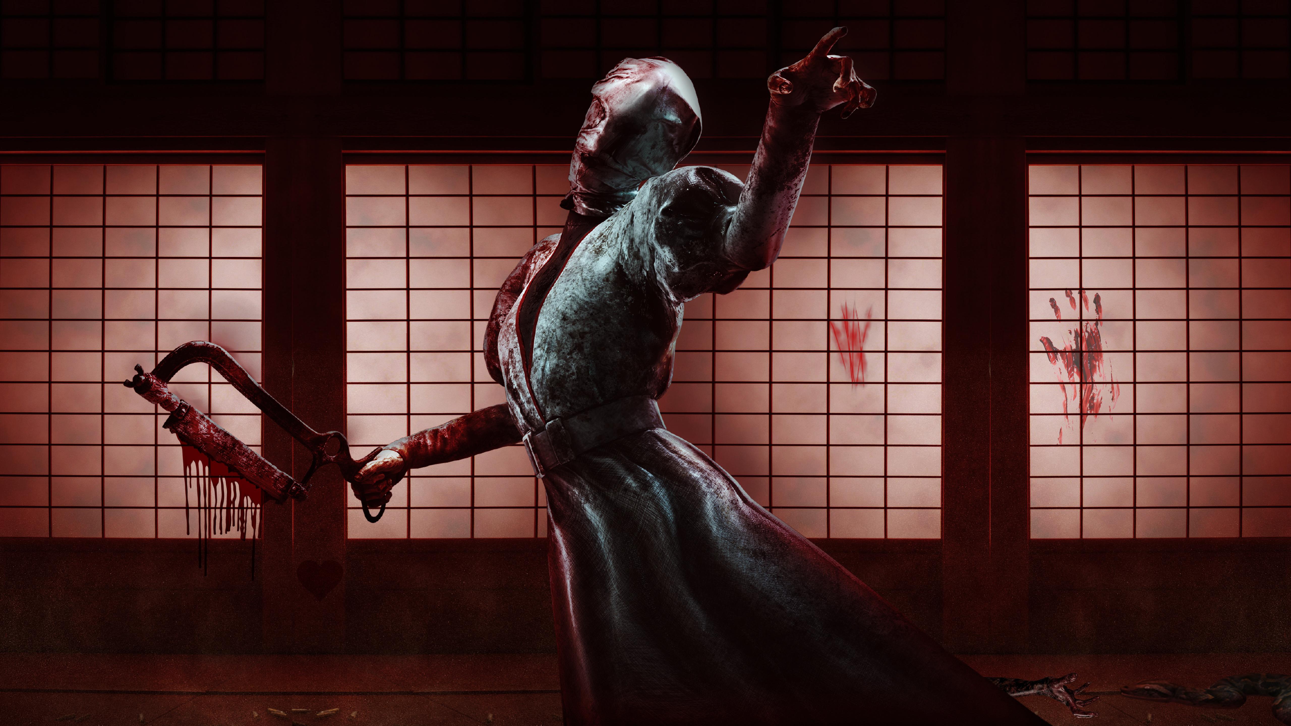 Wallpaper Blood The Nurse Dead By Daylight 5120x2880 Mt4s