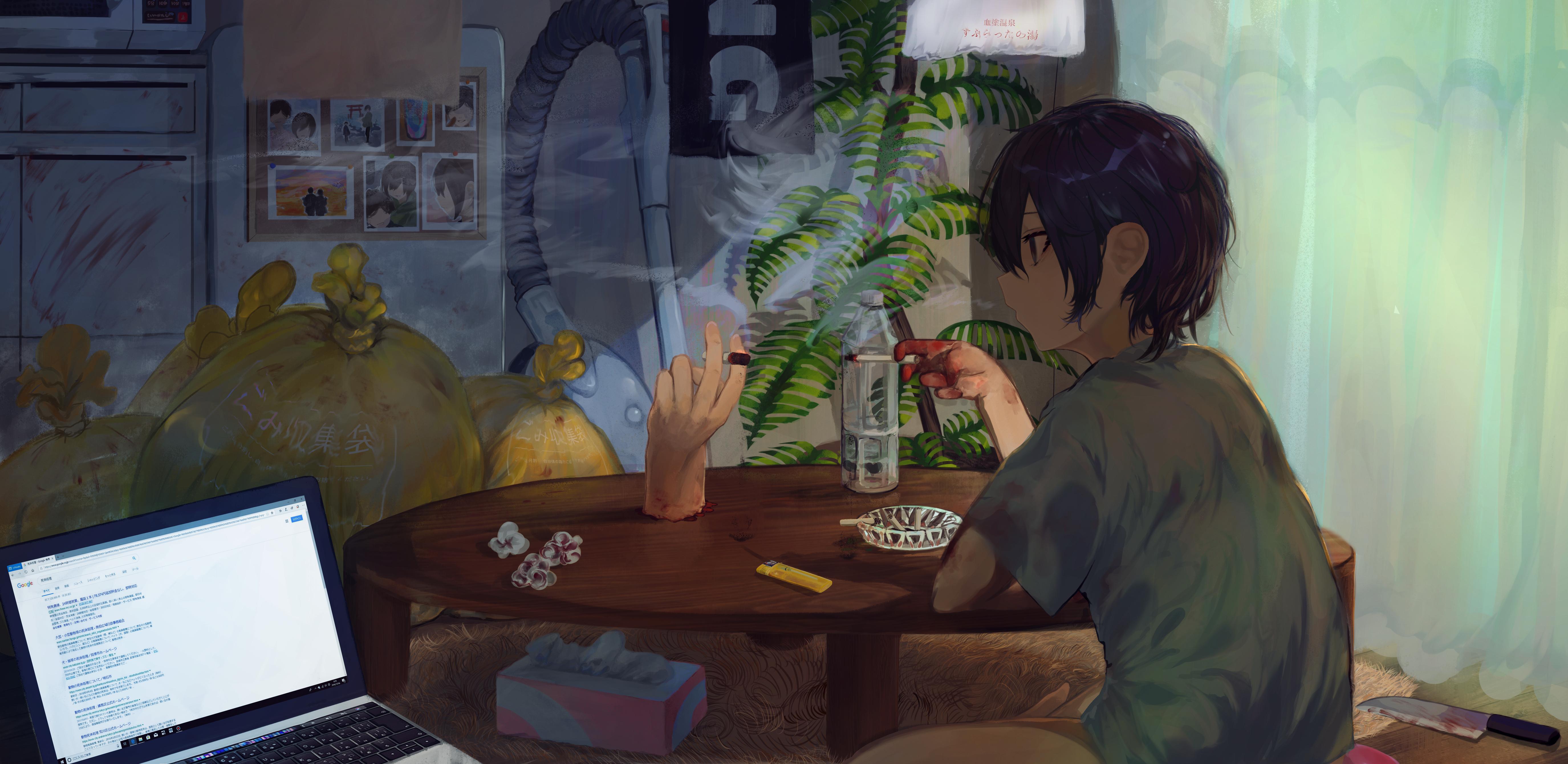 Kouření anime