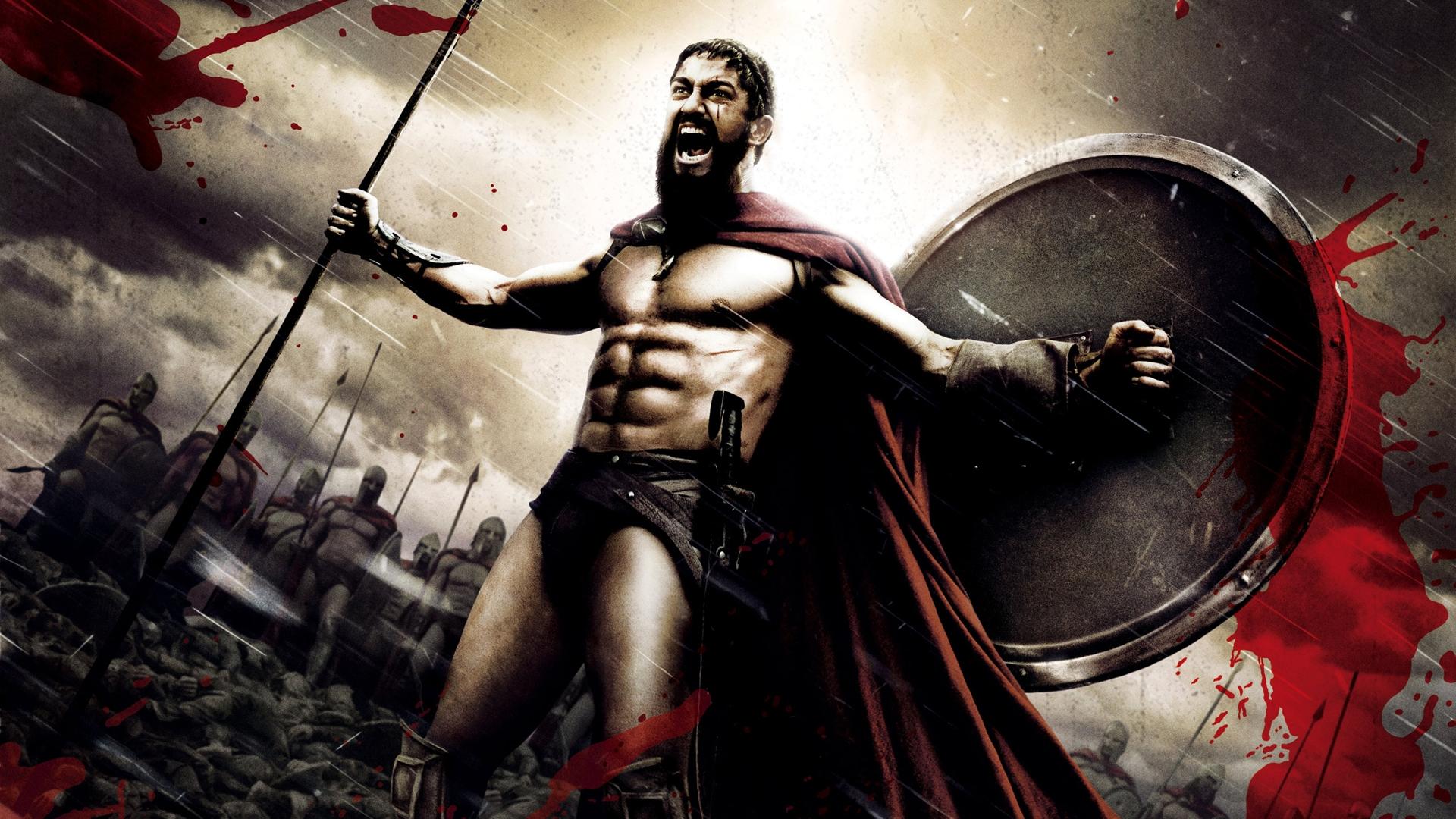 Wallpaper Blood King 300 Leonidas Gerard Butler Art Darkness