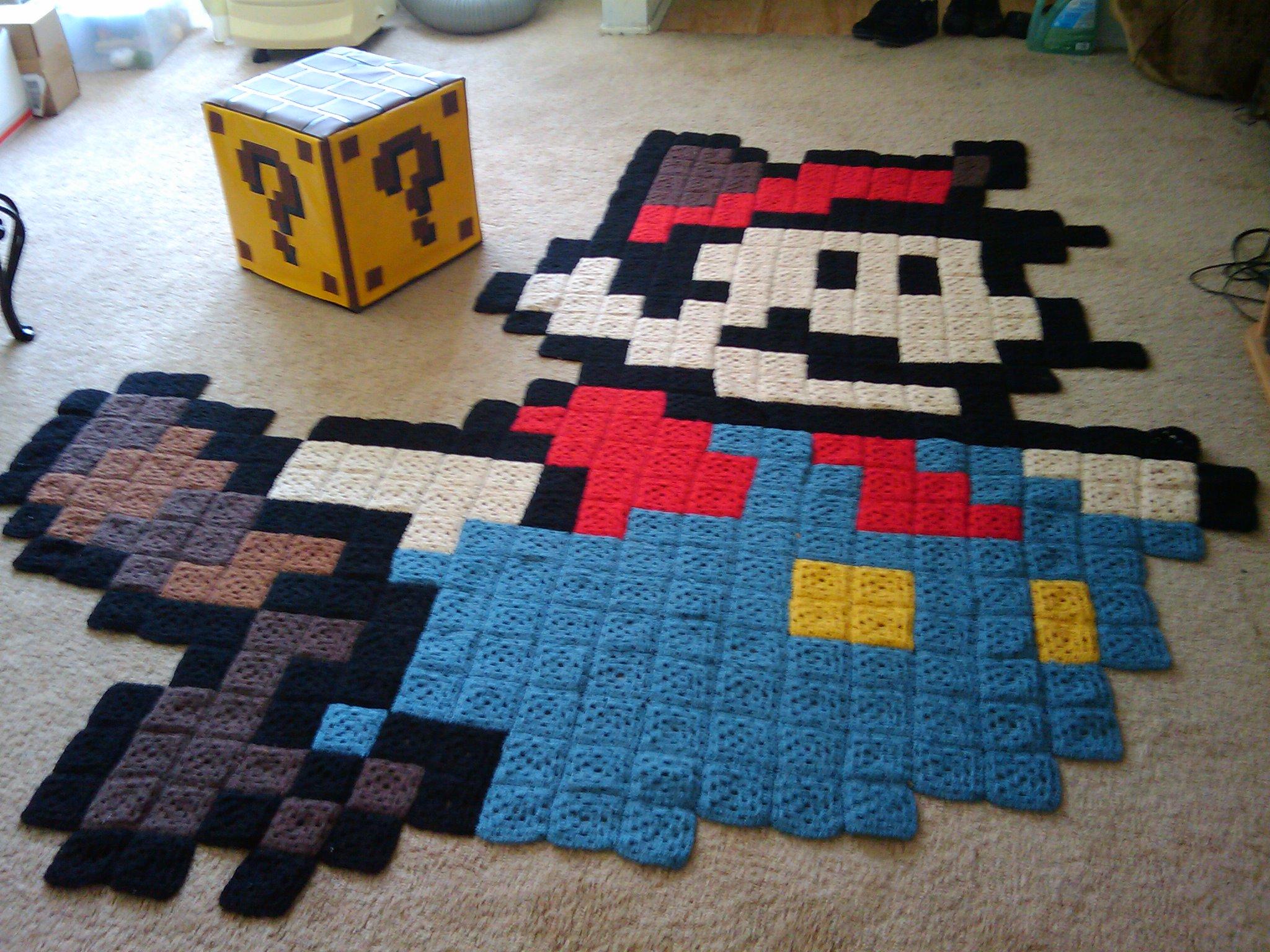 デスクトップ壁紙 青 パターン 平方 おもちゃ 任天堂 遊びます かぎ針編み アート 工芸品 材料 スーパー 毛布 手作り バツ 驚くばかり 装飾 繊維 おばあちゃん ビデオゲーム 床材 ラグ キルト 8ビット 家庭用品 ラクーンマリオ キルティング