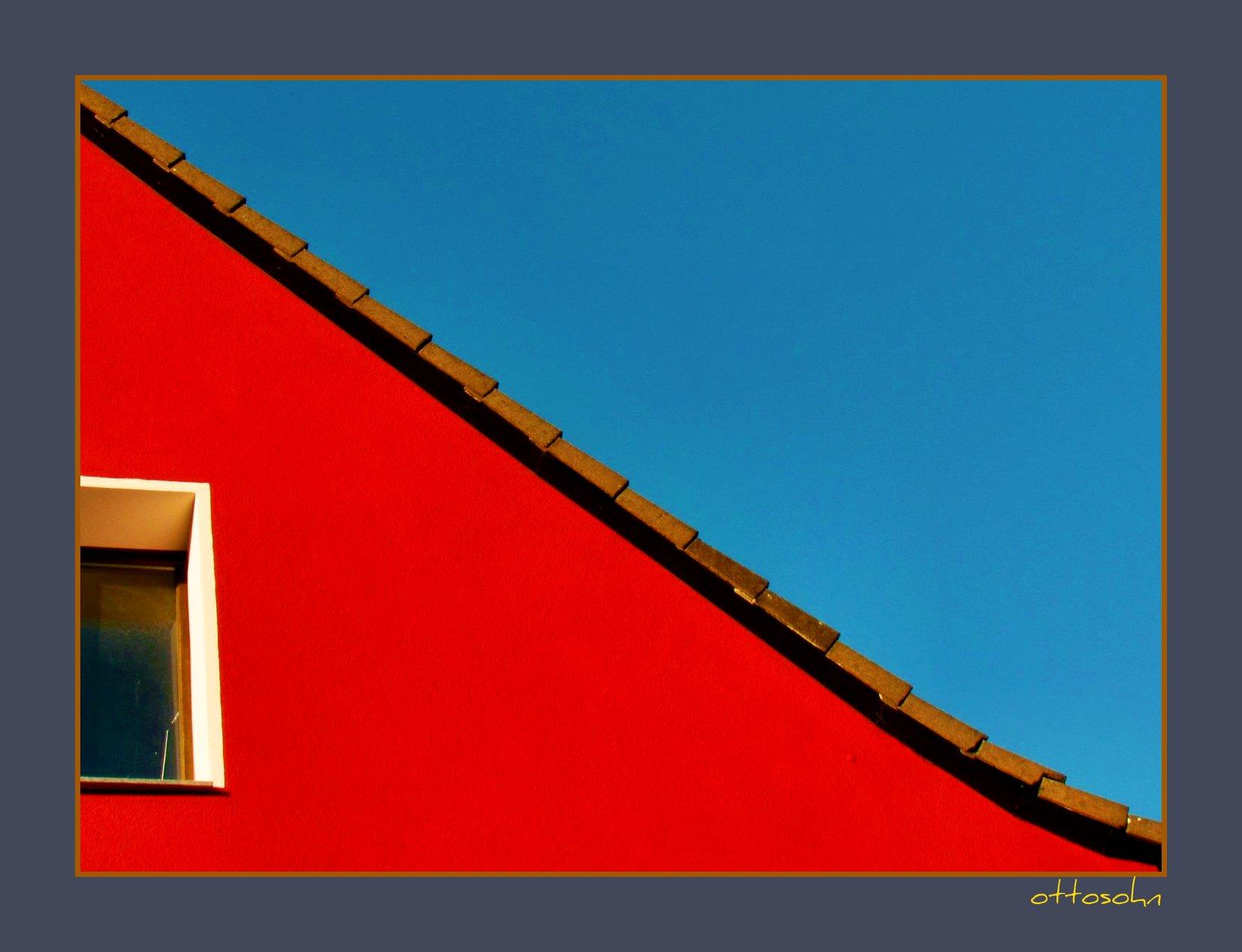 Hintergrundbilder : Blau, Dach, Himmel, Haus, Farbe, Verrotten, Fenster,  Mauer, Deutschland, Formen, Rot Und Blau, Oberflächen, Renovierung,  Fassade, ...