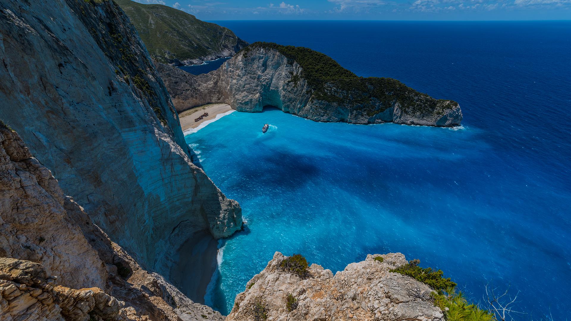 Hintergrundbilder : blau, Meer, Urlaub, Seelandschaft, Wasser, Rock ...