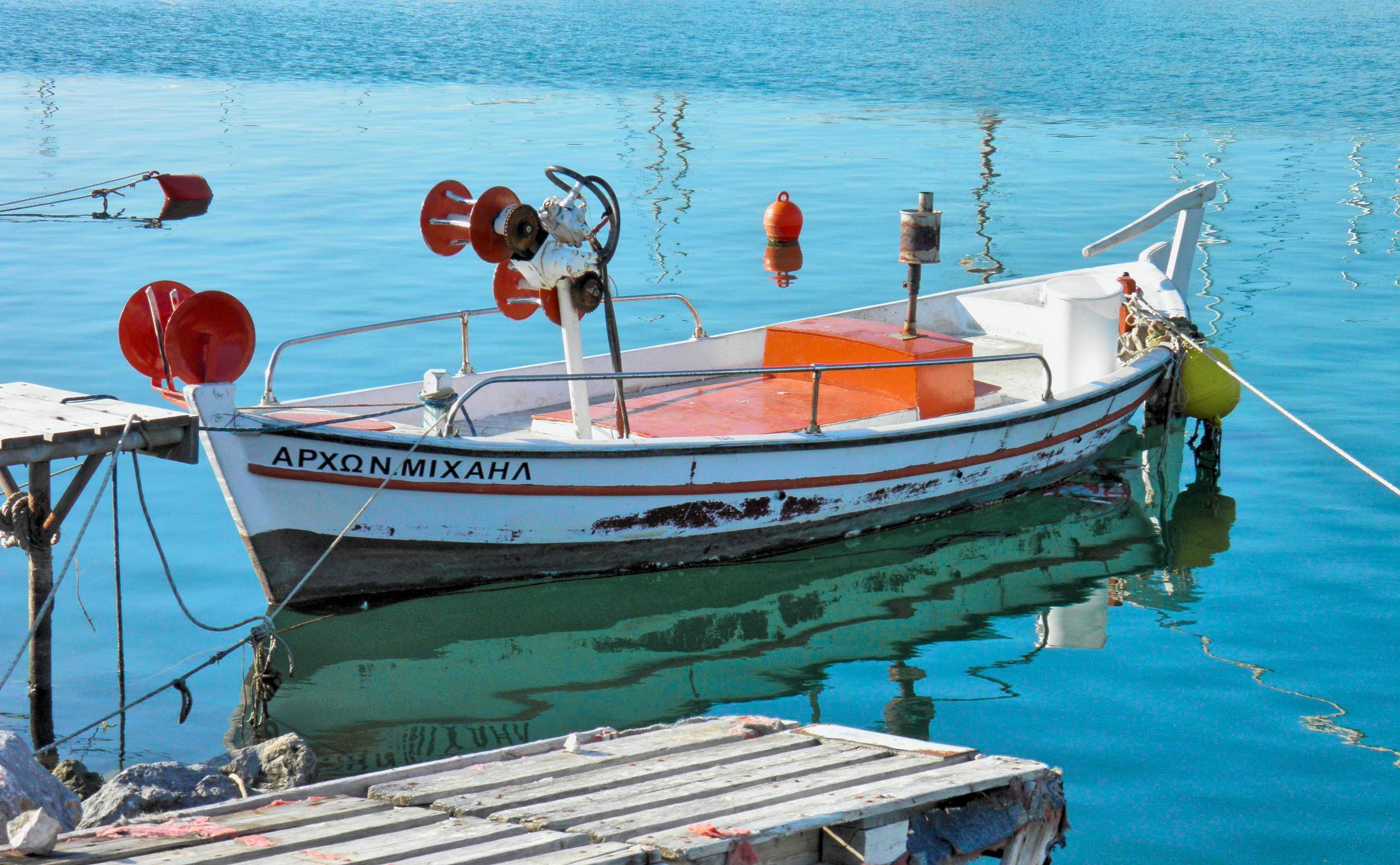 Hintergrundbilder : blau, Meer, Orange, Reflexionen, Boot, Farben ...