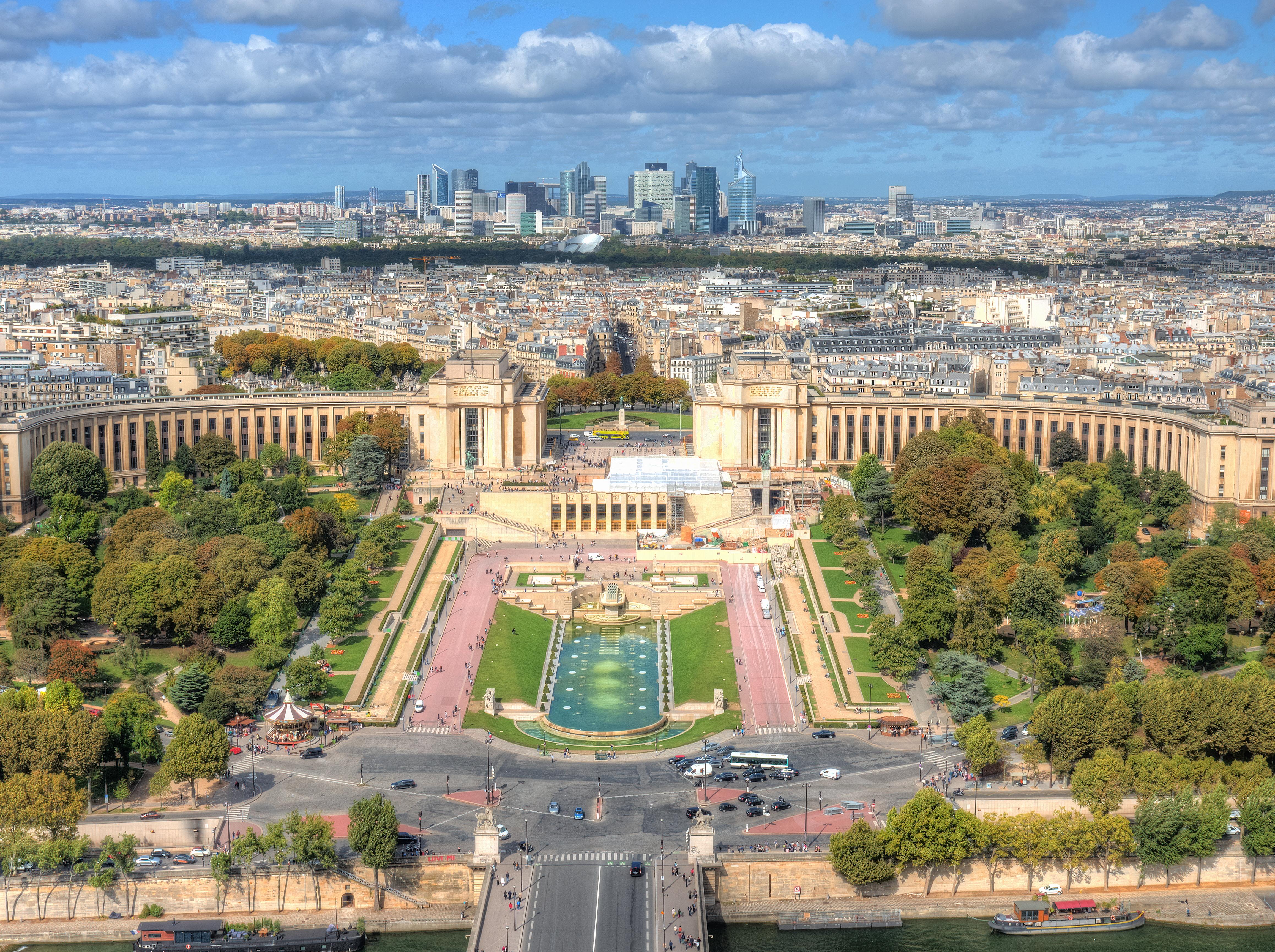 Wallpaper Biru Pohon Langit Paris Perancis Arsitektur