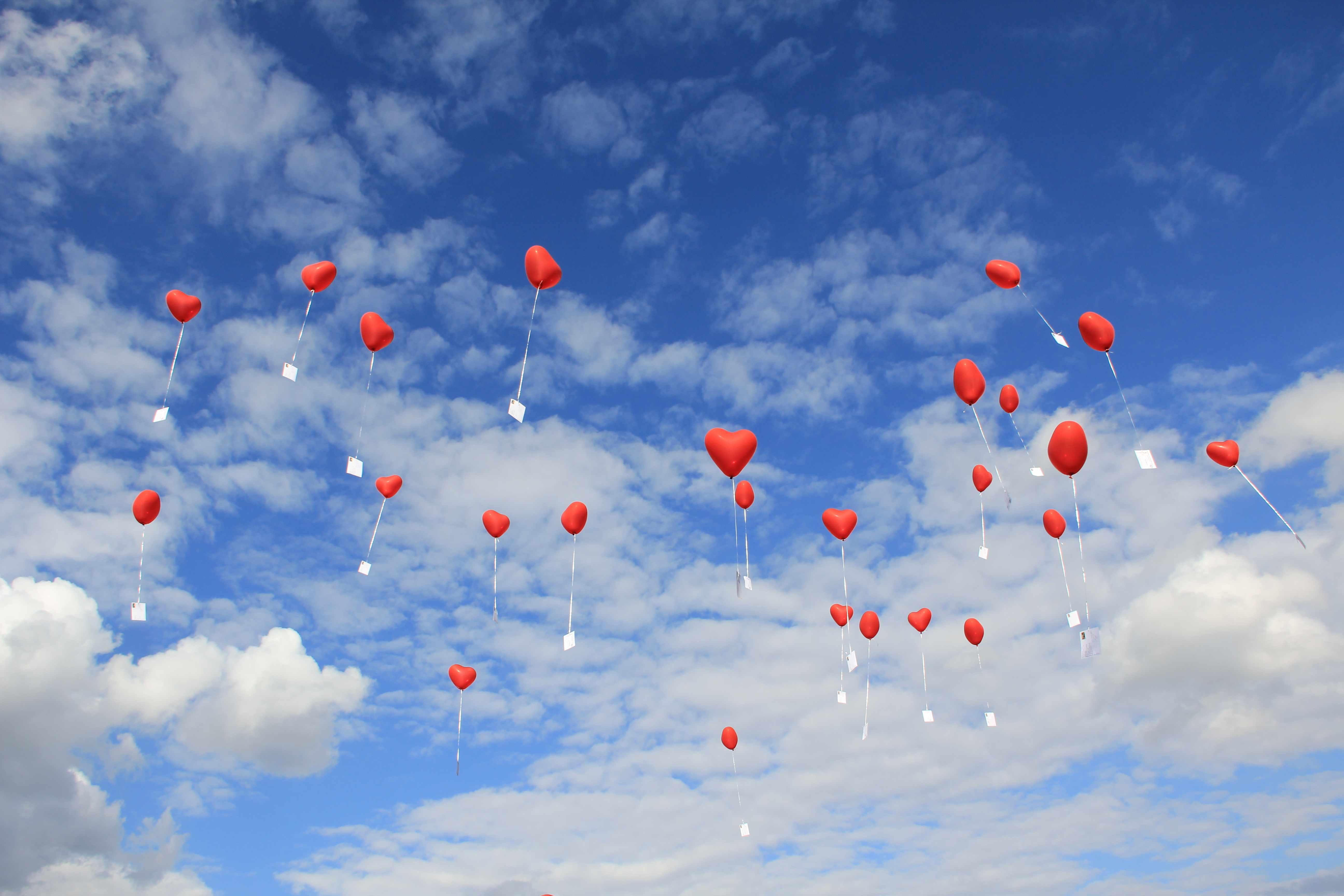 Hintergrundbilder Blau Hochzeit Karten Herz Ballon Himmel
