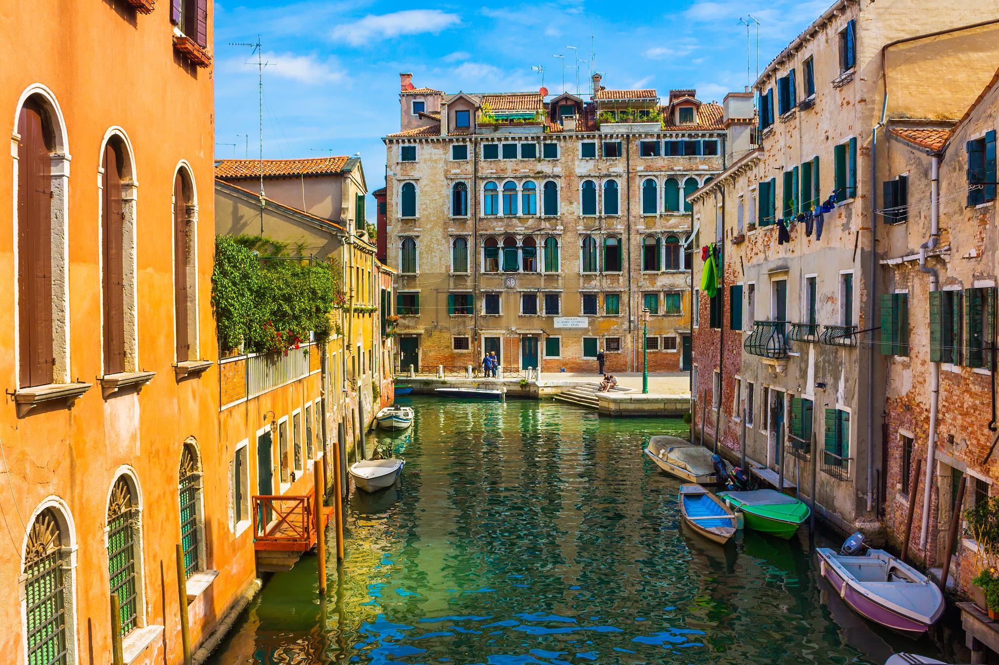 Обои лодка, канал, венеция. Города foto 19