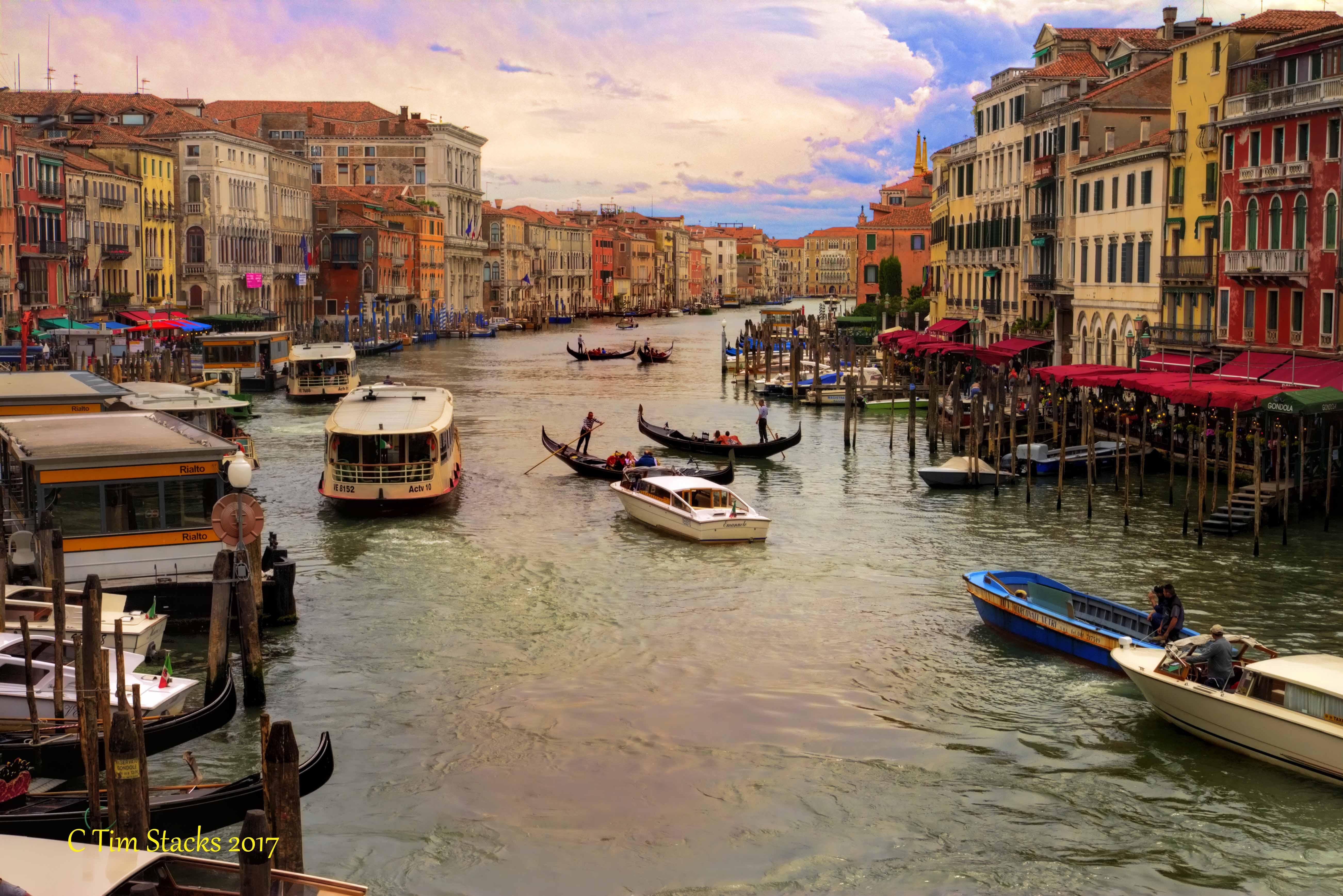 Обои лодка, канал, венеция. Города foto 12