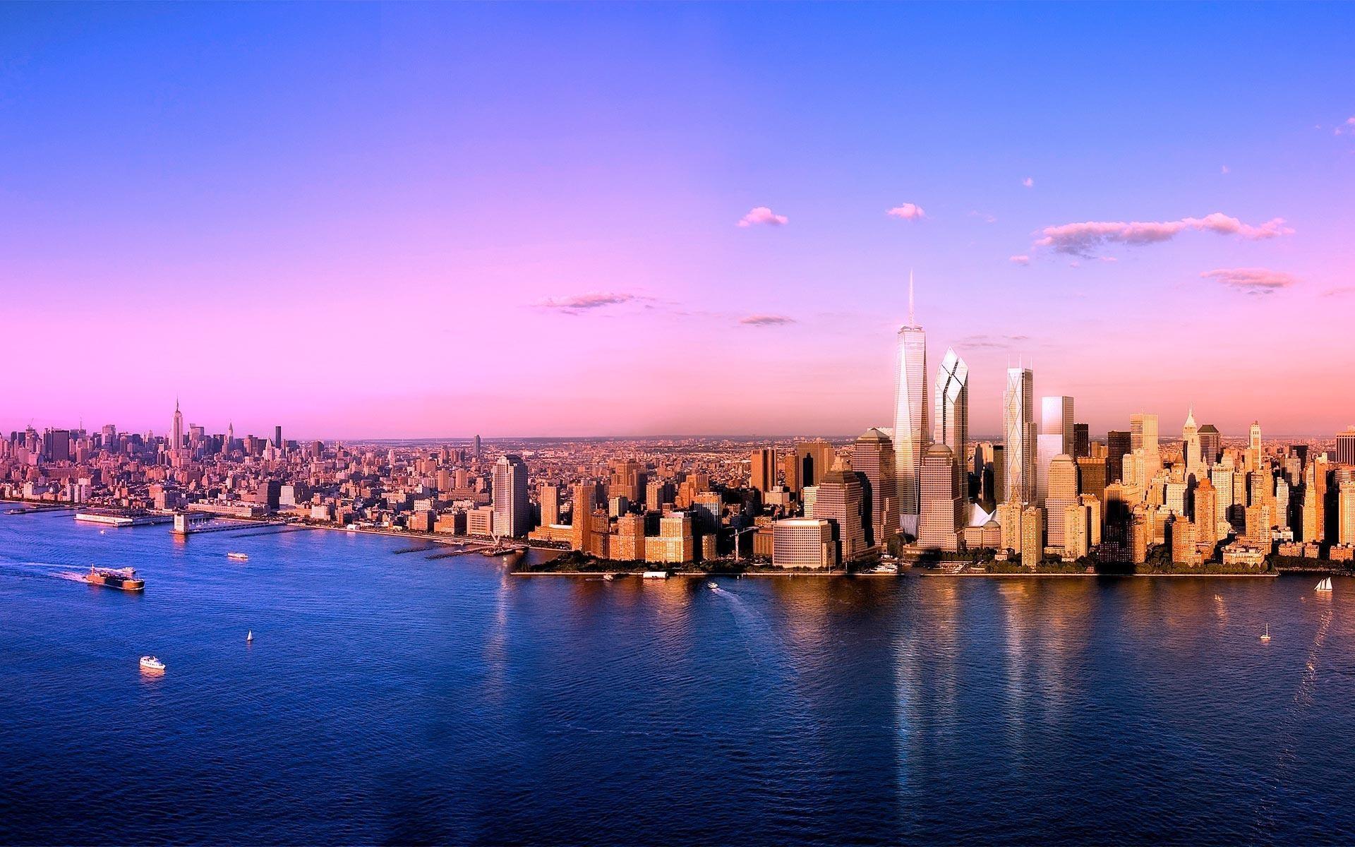 Обои на рабочий стол панорама города сделали фотографии