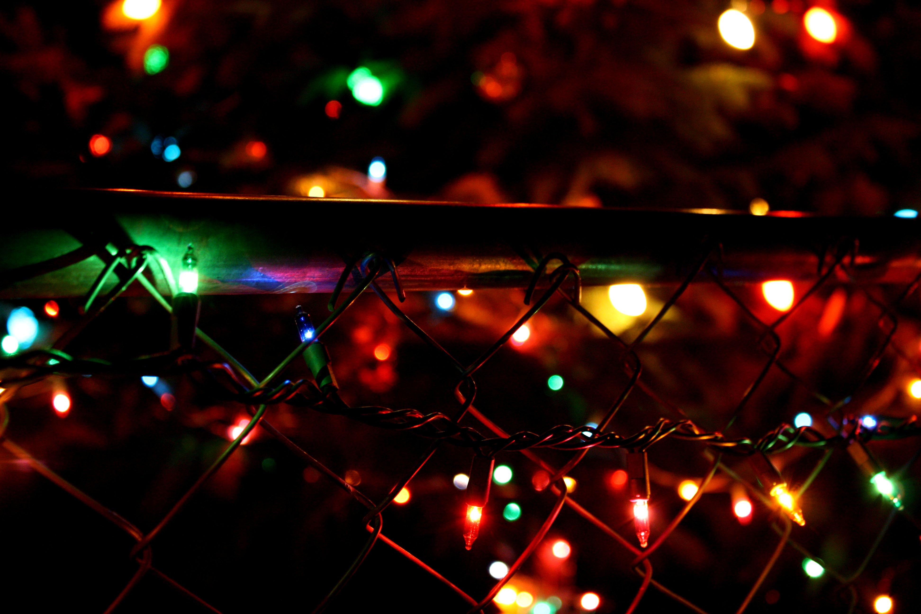 Sfondi : Bokeh, Recinto, Luci Di Natale 3888x2592