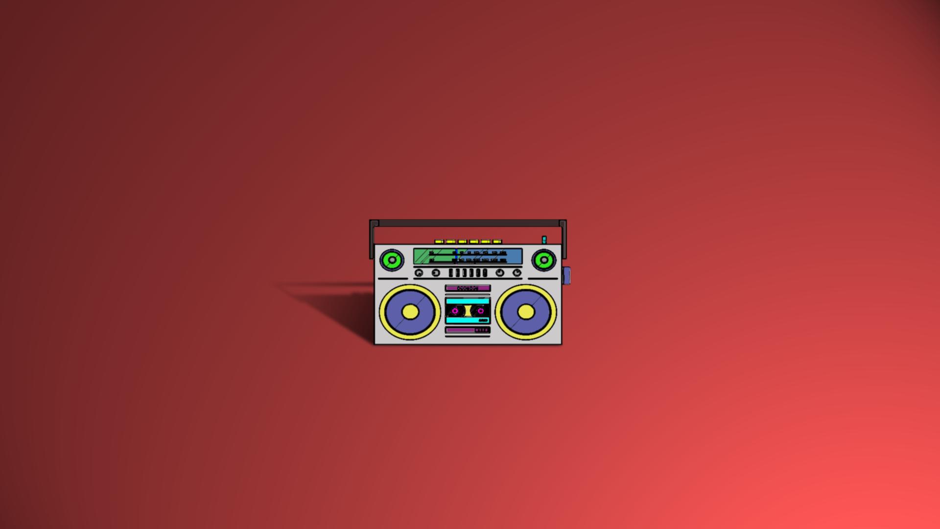 wallpaper boombox music colorful 1920x1080 gacuu 1451229