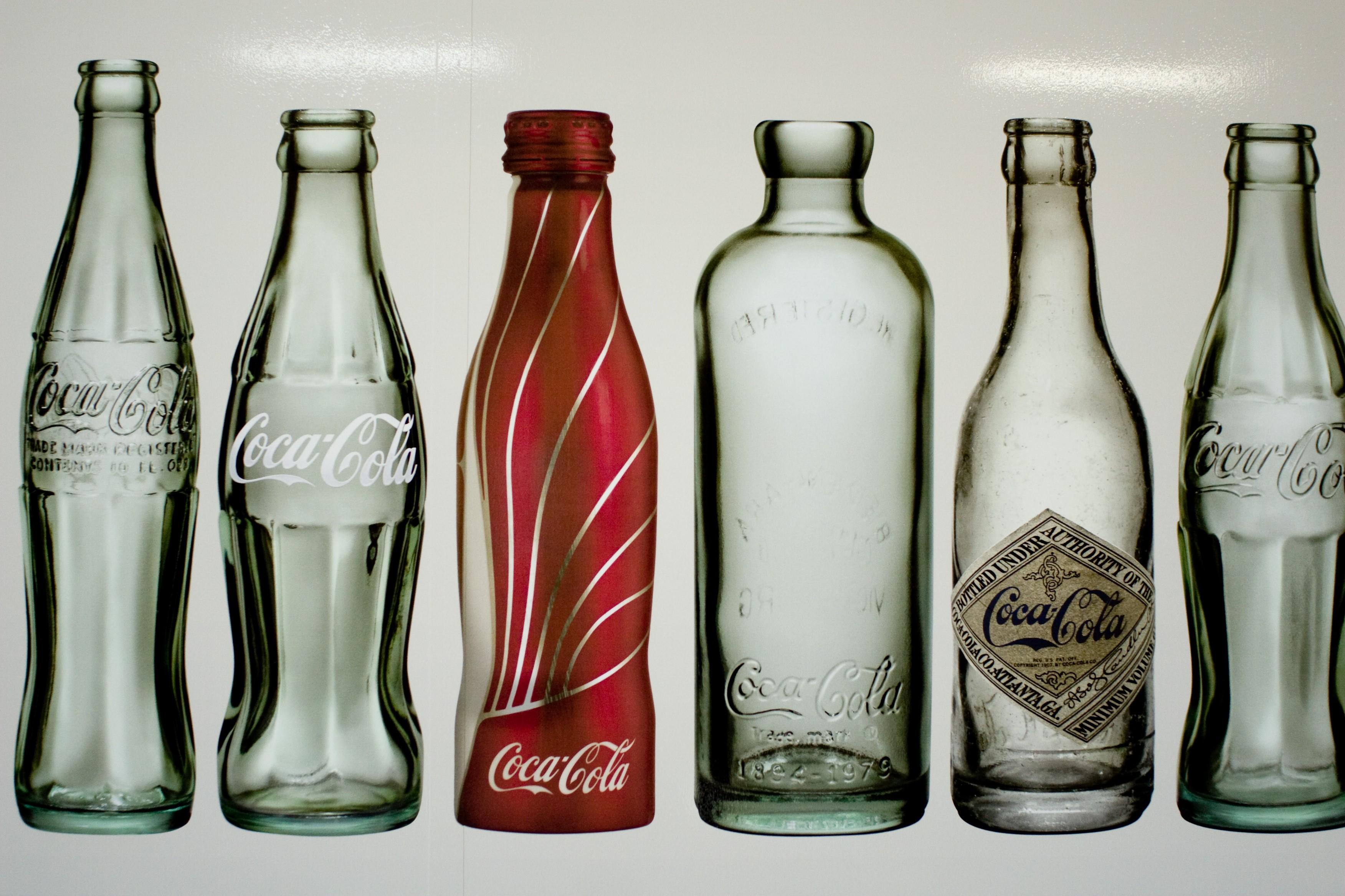 coca cola glasflaska