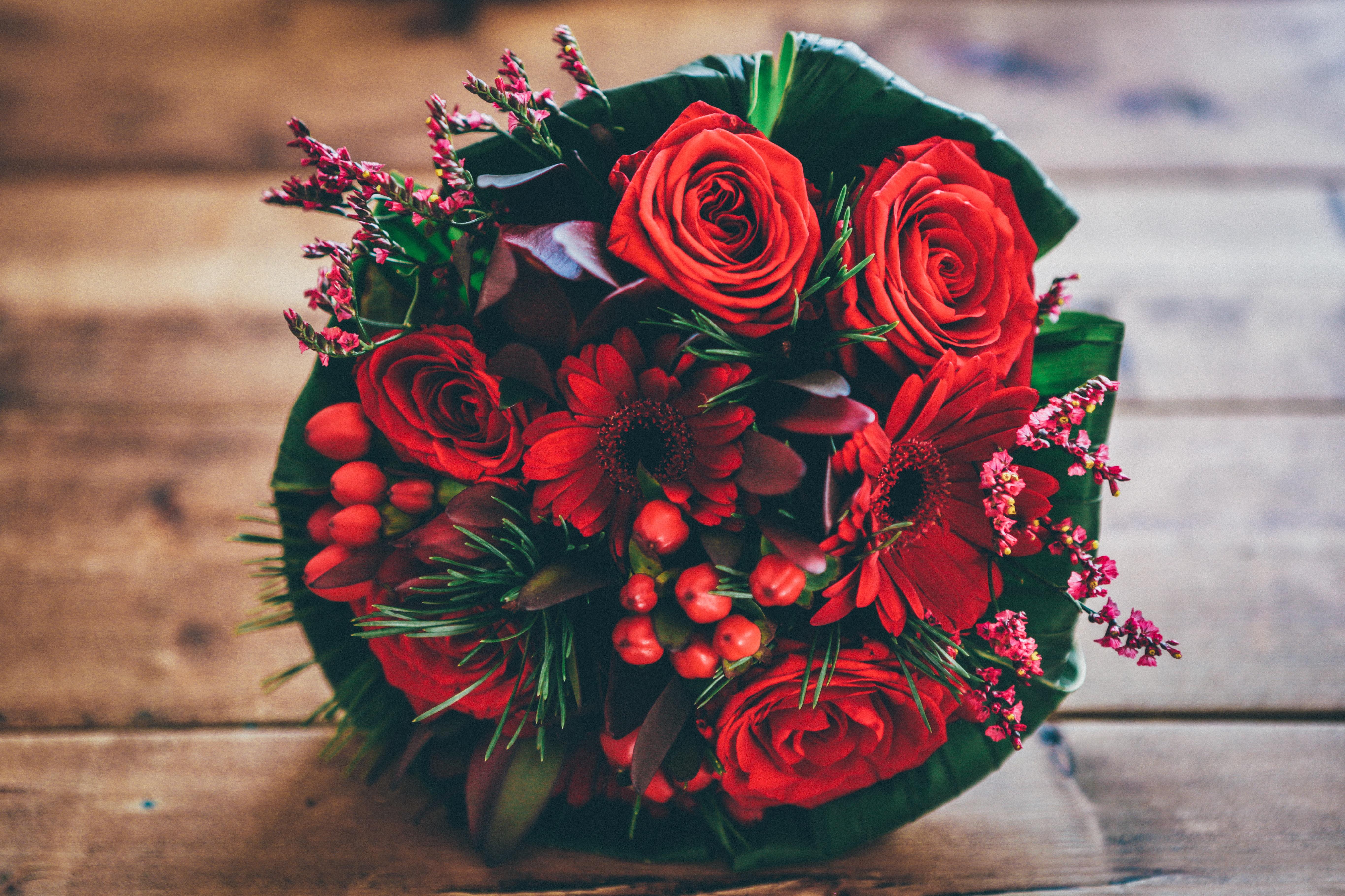 Fond D Ecran Bouquet Fleurs Des Roses Rouge Composition