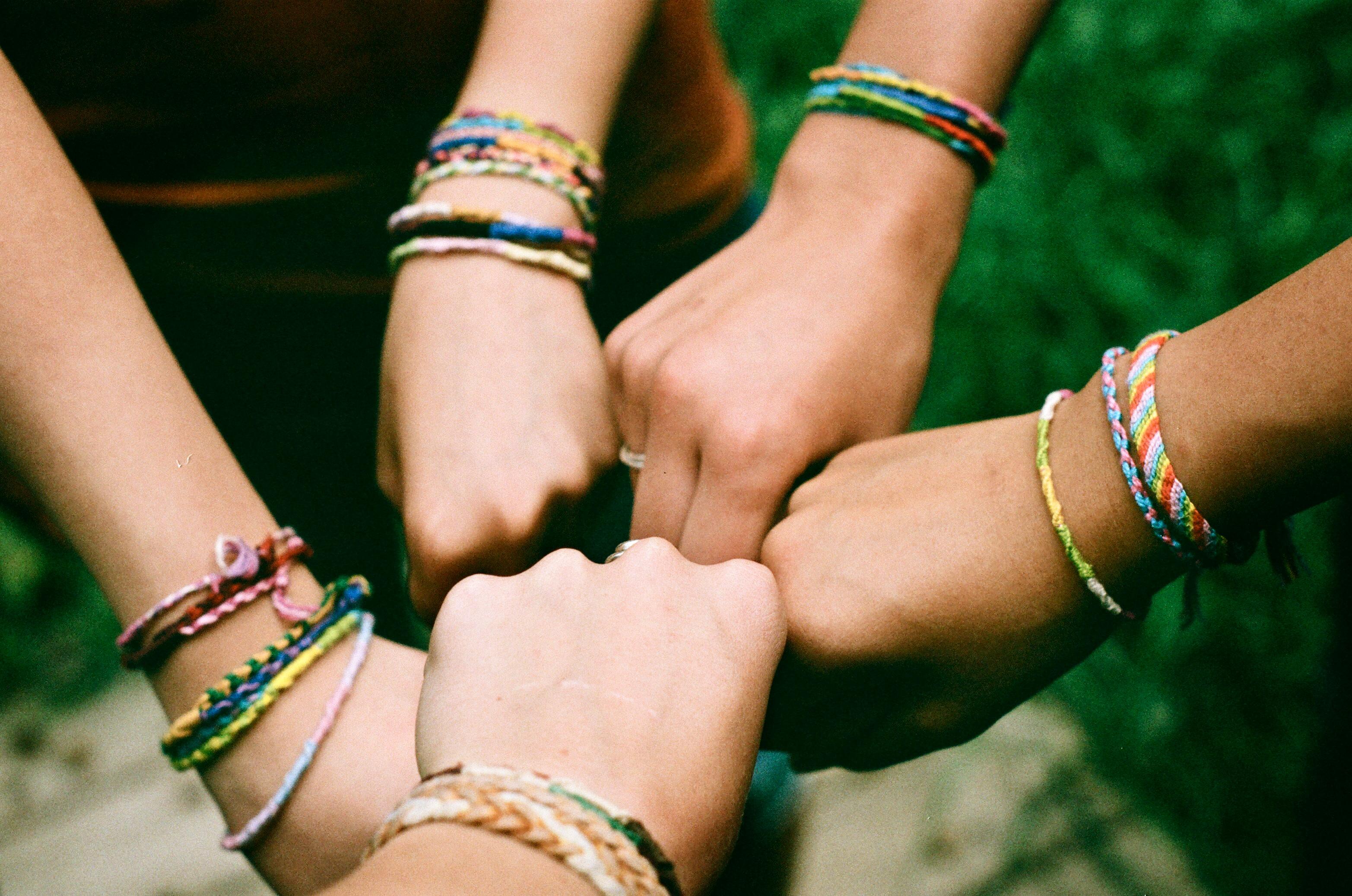 Wallpaper : bracelets, friendship, turquoise, holding hands, camp ...