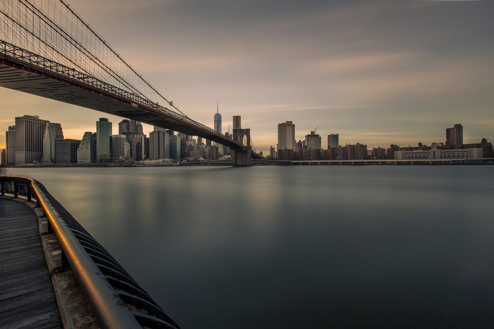 Wallpaper Bridge Brooklyn Bridge City 1920x1280 Cmbn3