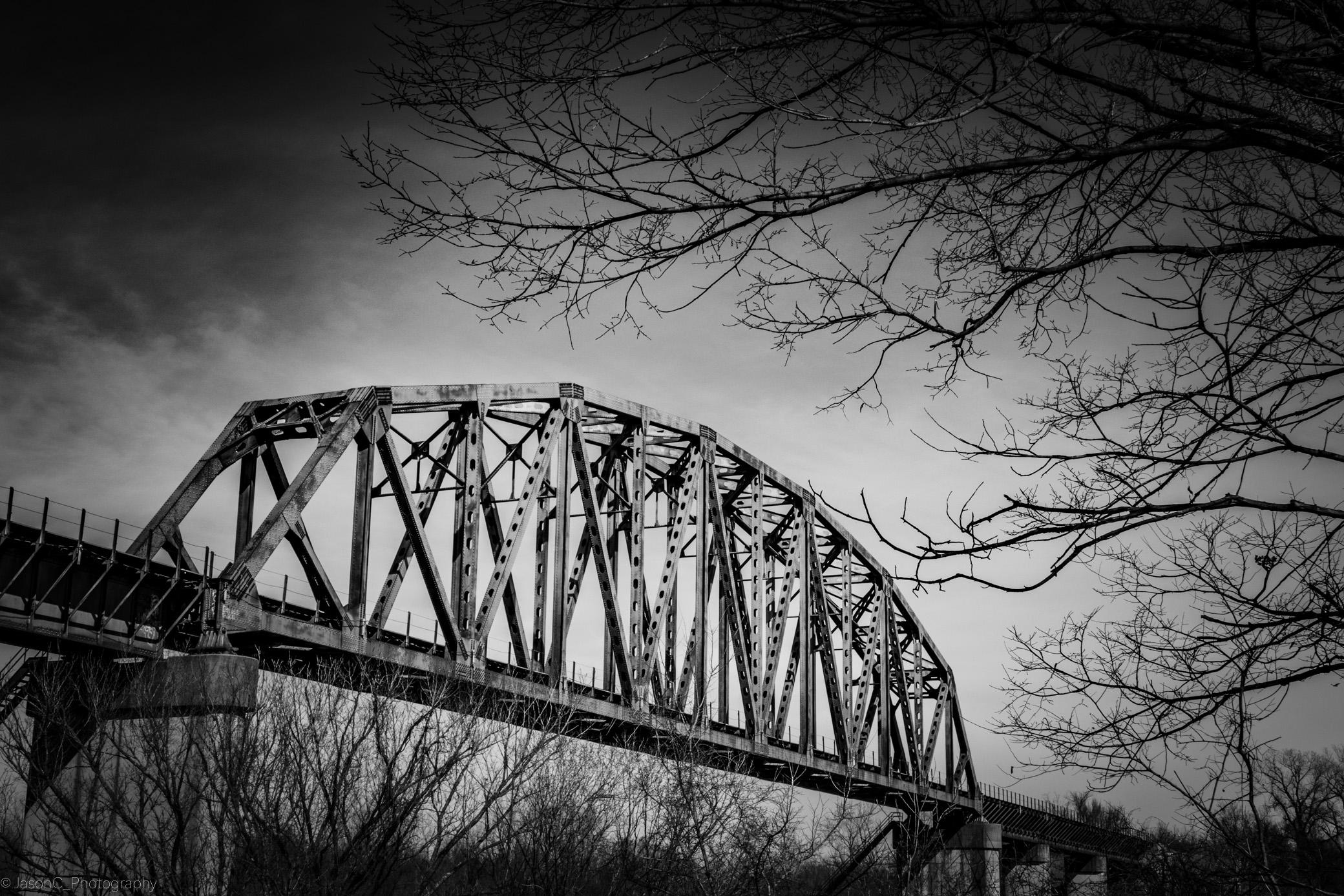 Fondos de pantalla : puente, abandonado, Oklahoma, Bnw, Blanco y ...