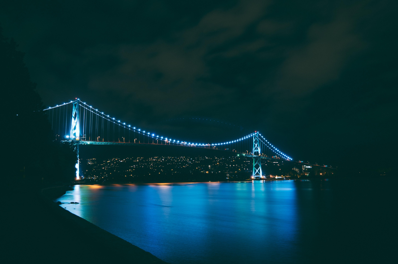 картинка ночной мост для телефона пластичному материалу производим