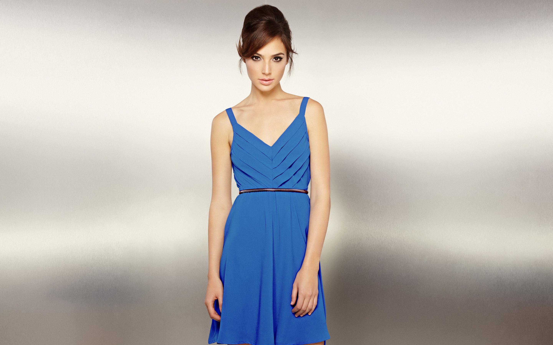 Hintergrundbilder : Brünette, Darstellerin, Kleid, Gal Gadot, blau ...