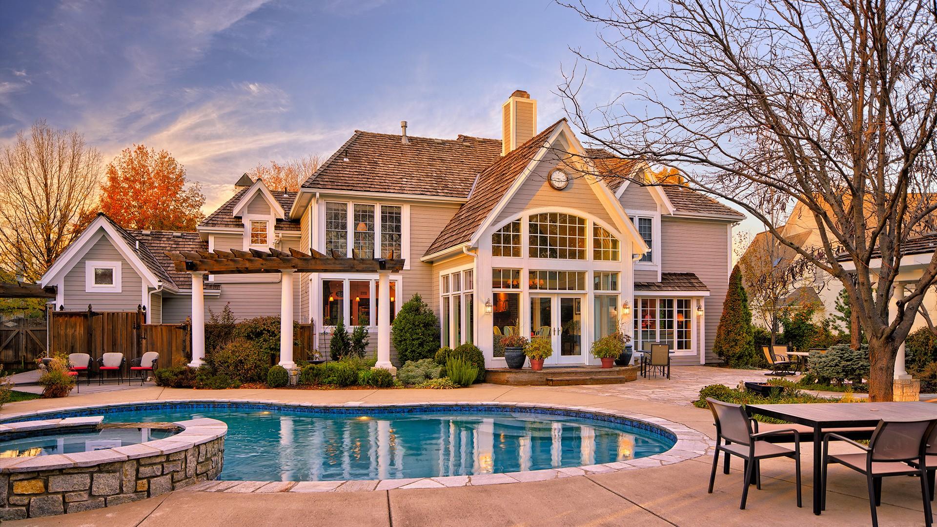 Wallpaper : Building, House, Swimming Pool, Resort