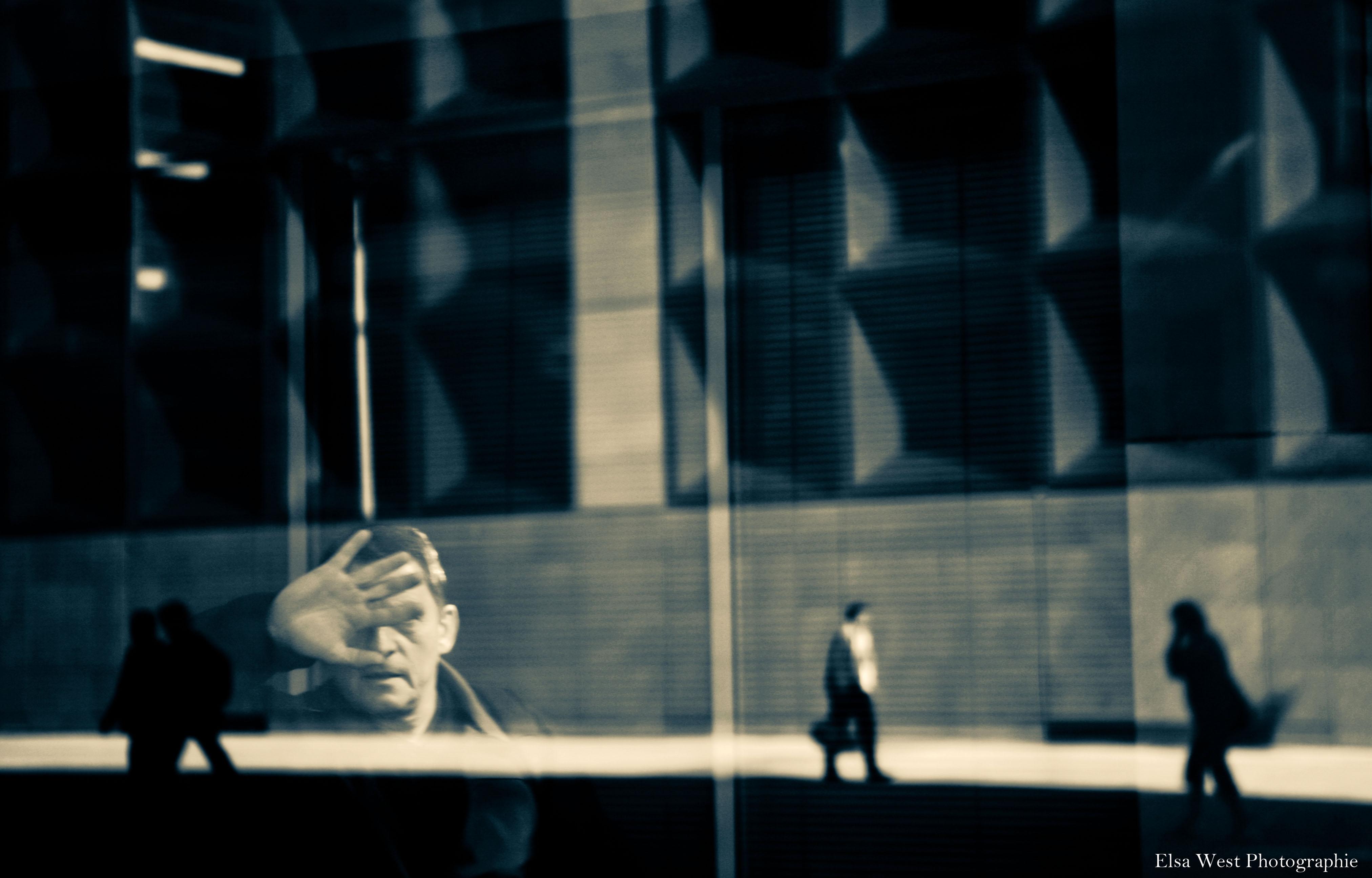Wallpaper Building Silhouette Businessman Canon Reflets Homme