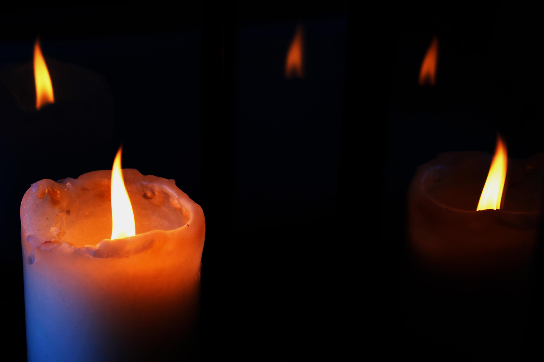 Фоторамки с огнем свечой