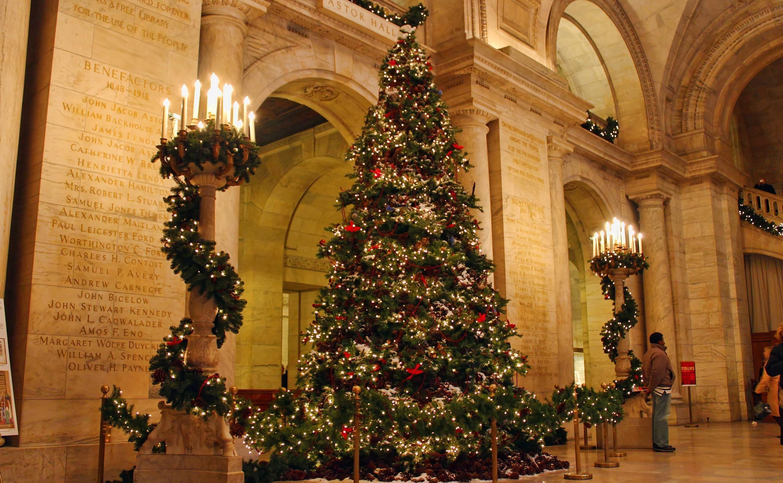 Fondos De Pantalla Velas árbol De Navidad Fiesta