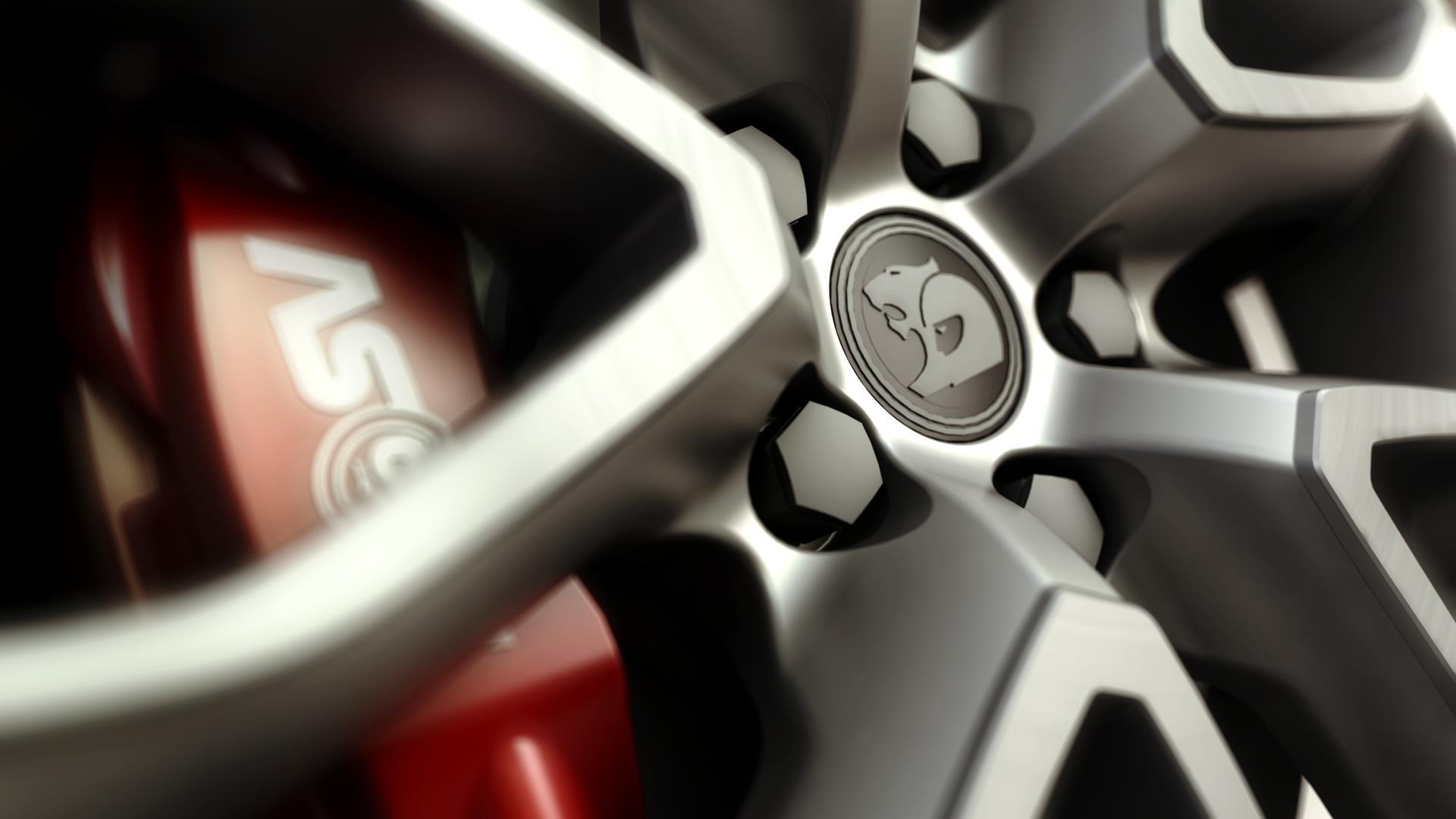 Wallpaper 3D Kendaraan CGI Merapatkan Rims Setir
