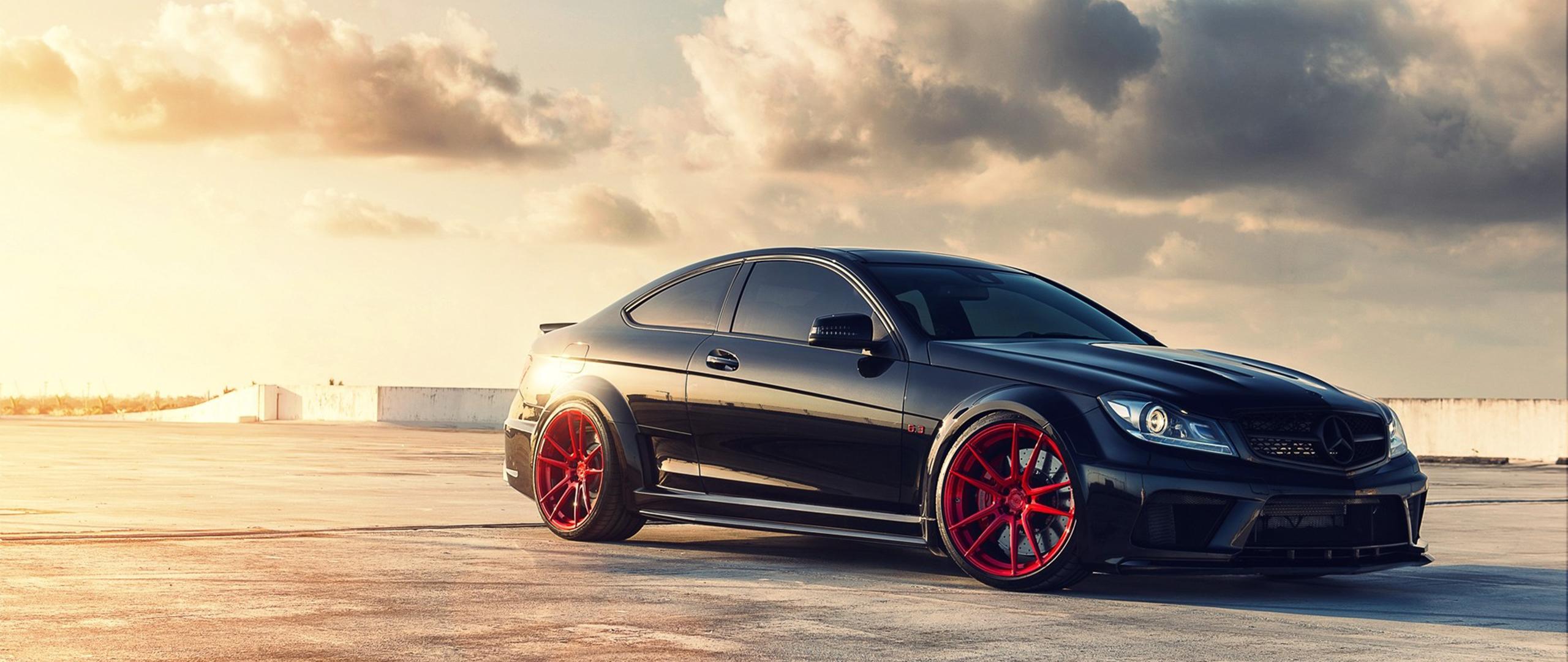 Wallpaper : BMW, Mercedes Benz, sports car, ultra wide, coupe ...