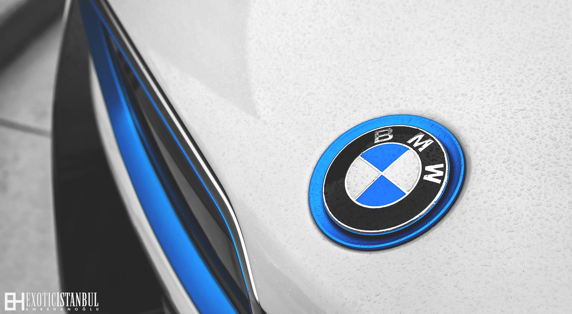 Wallpaper Car Bmw Vehicle Rain Logo Blue Istanbul