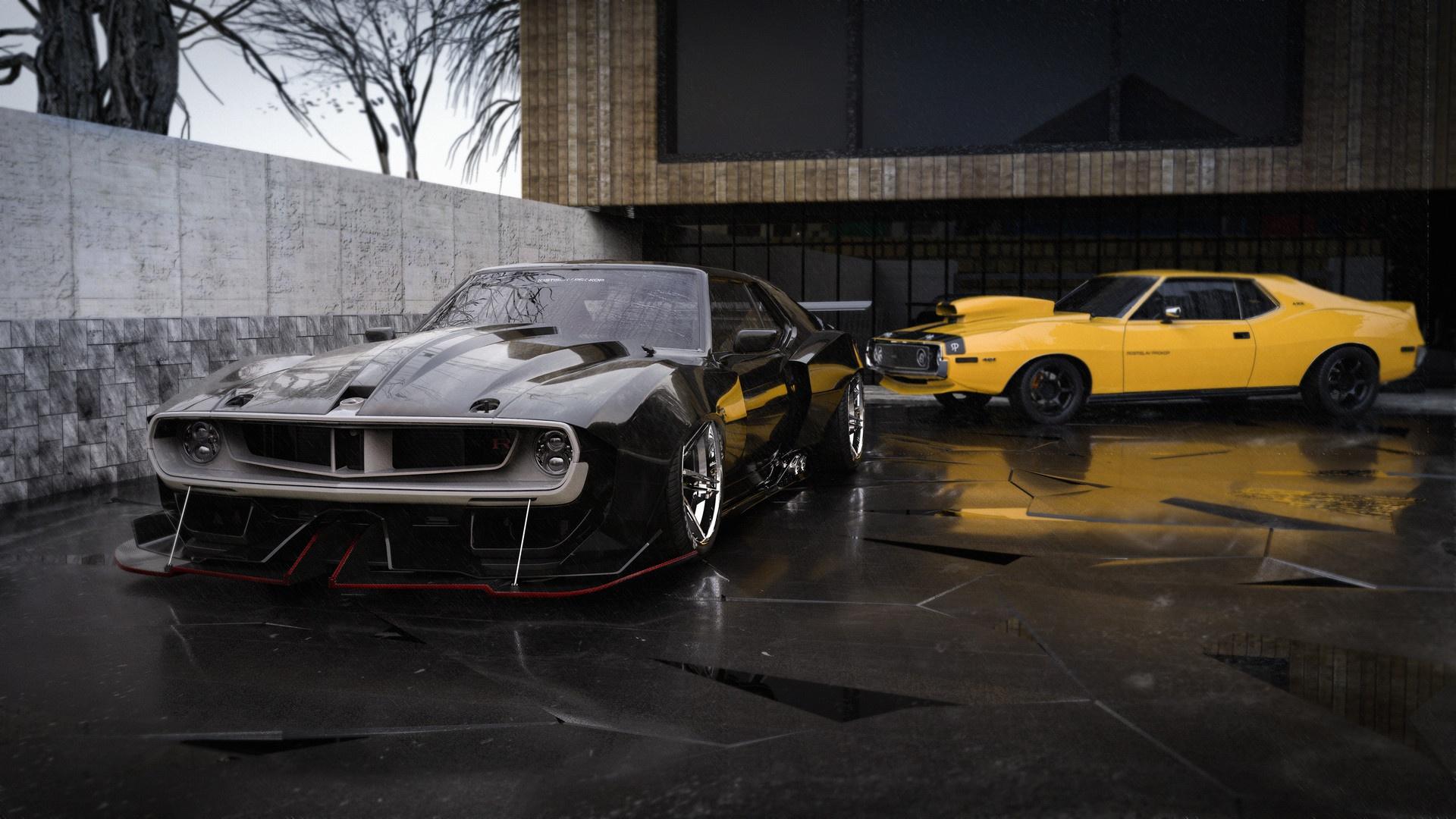 Wallpaper Car Black Cars Yellow Cars Rostislav Prokop Vehicle