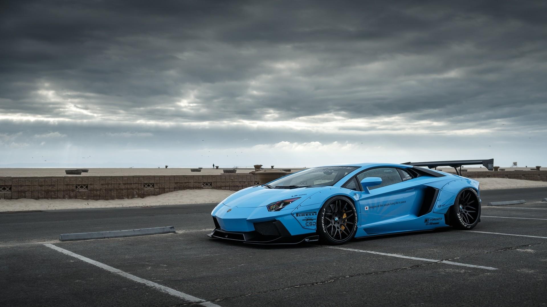 Wallpaper Blue Cars Lamborghini Aventador Lamborghini Gallardo