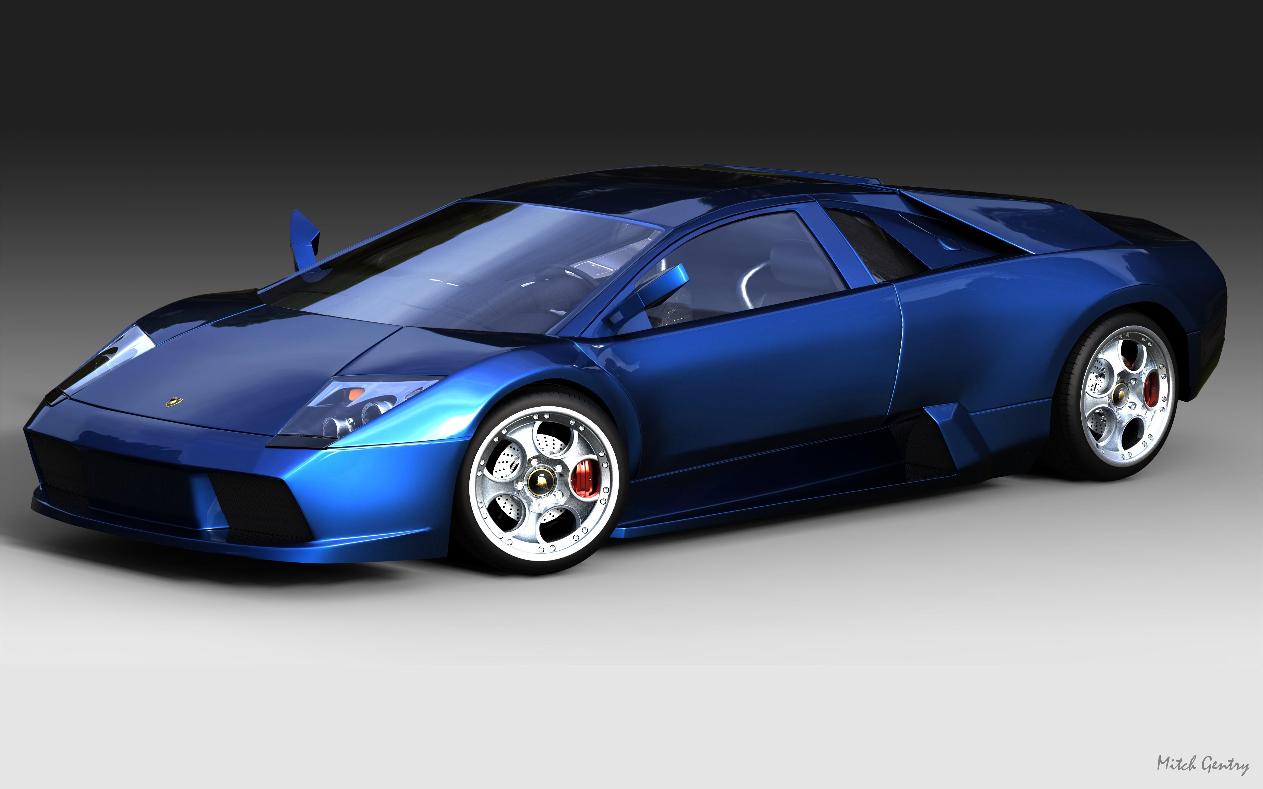 Hinh Nền Xe Hơi Xe Mau Xanh Xe Thể Thao Lamborghini Murcielago