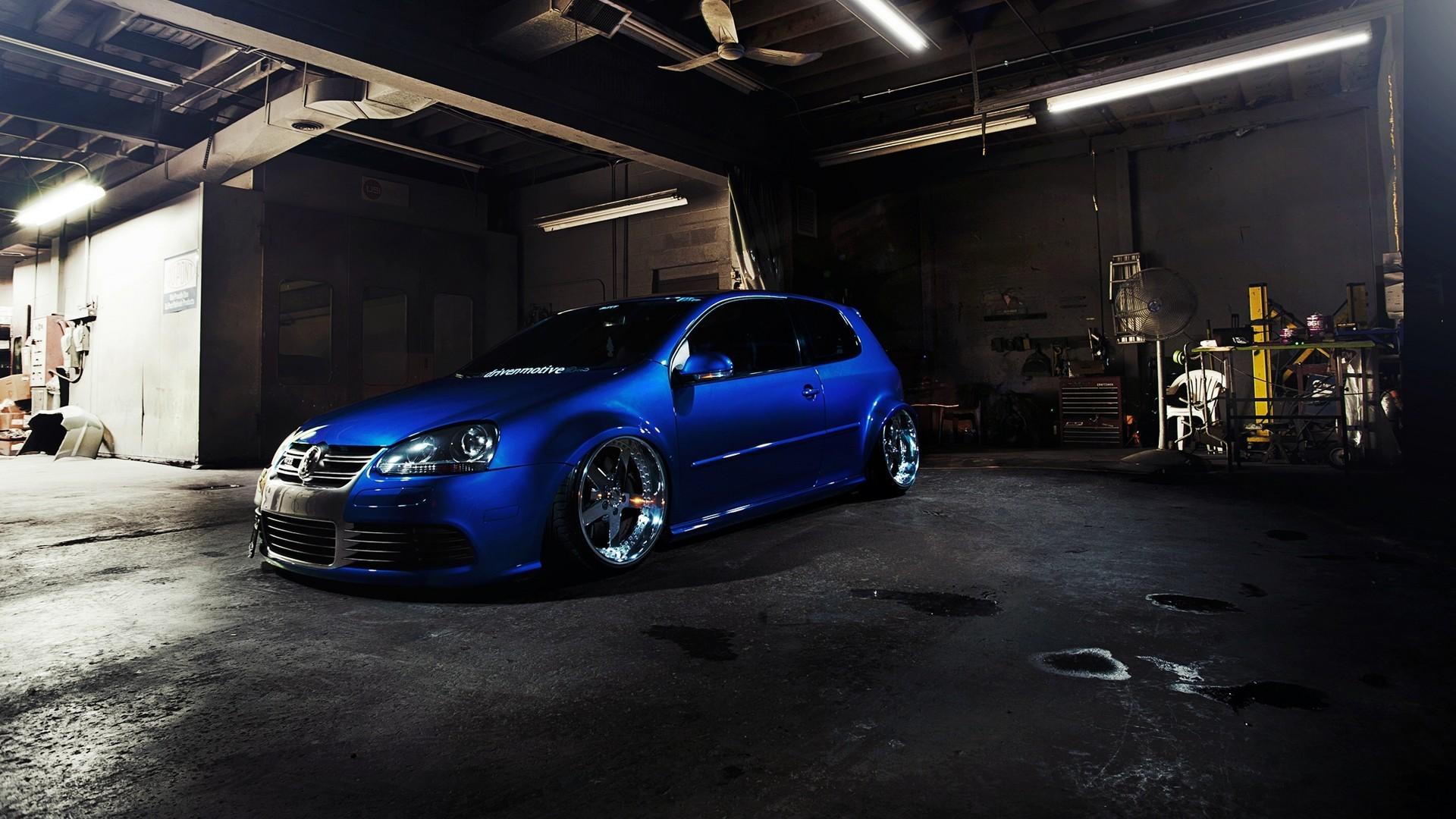 Wallpaper Blue Cars Volkswagen Golf Stance Volkswagen