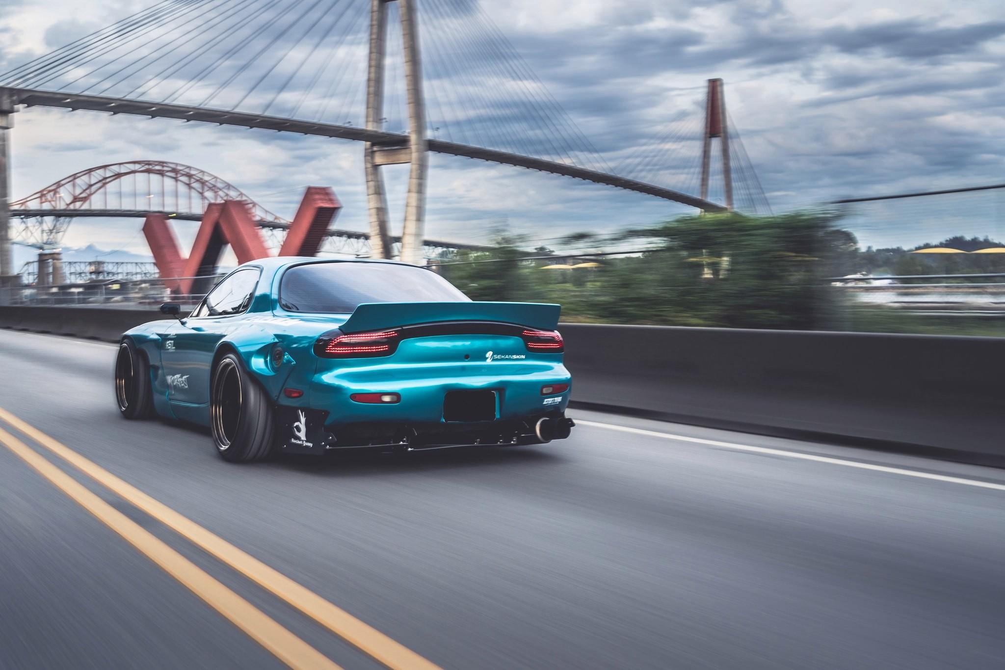 Mazda Furai Vehículos Supercars Hd Fondos De Pantalla: Fondos De Pantalla : Coches Azules, Vehículo, Puente
