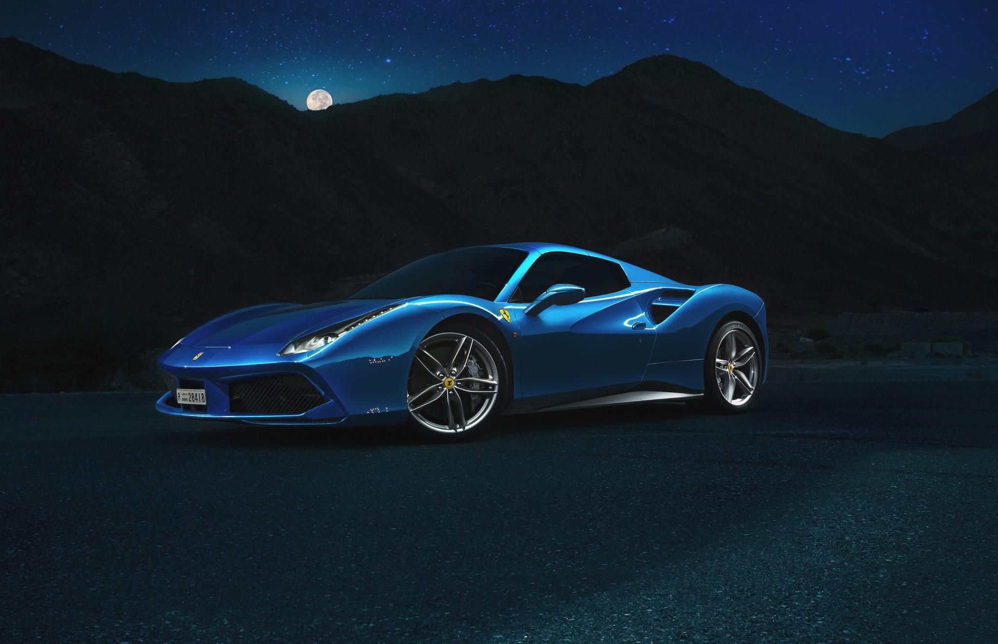 Wallpaper Blue Cars Sports Car Coupe Performance Car Ferrari