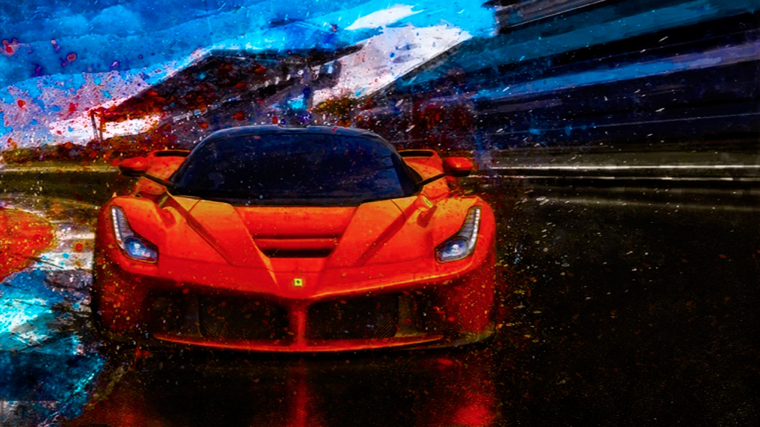 Masaüstü Araba Devre Ferrari Boyama 2560x1440 Orichinals