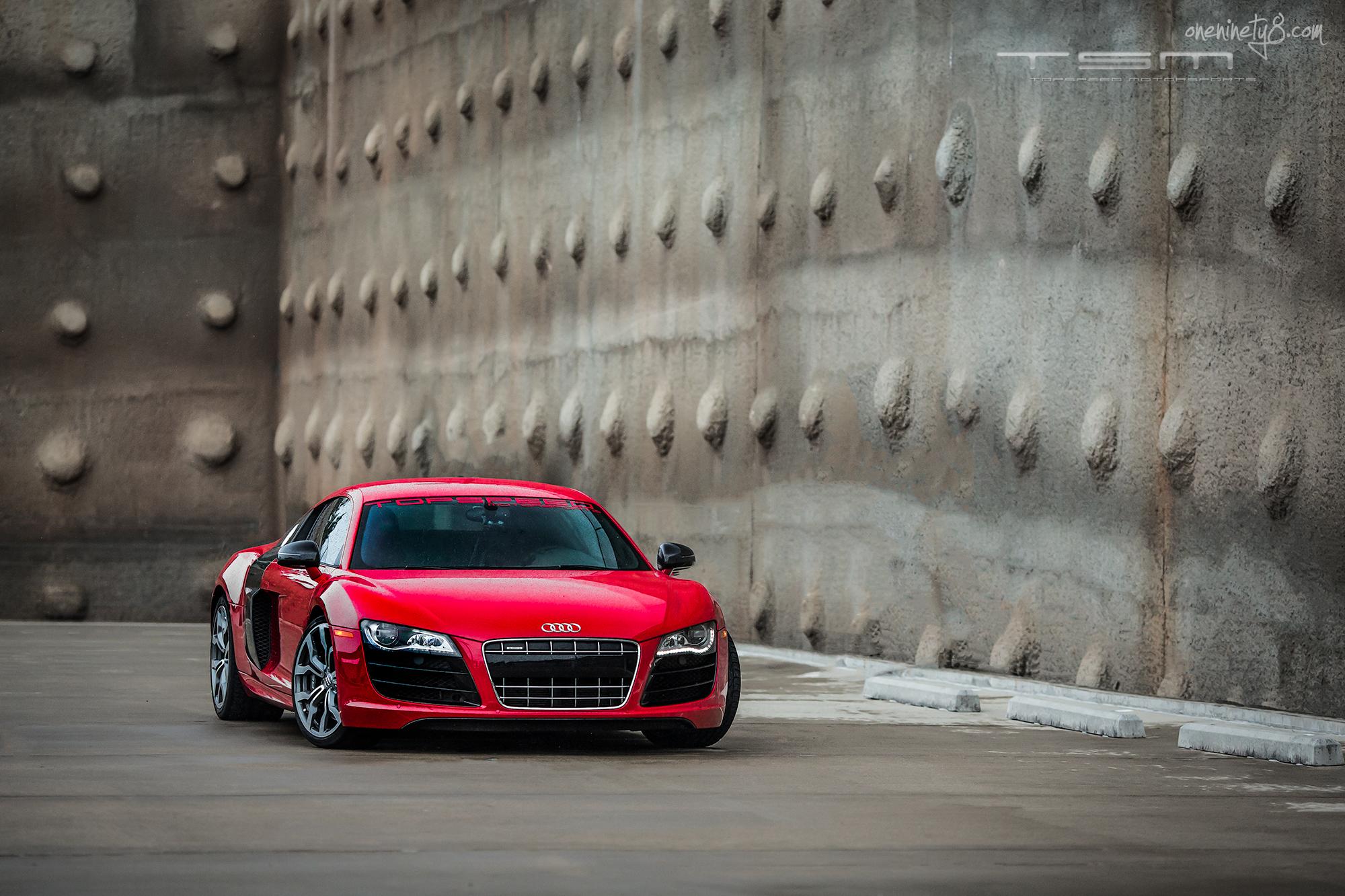 Wallpaper Red Rain Canon Sports Car Audi R8 Coupe
