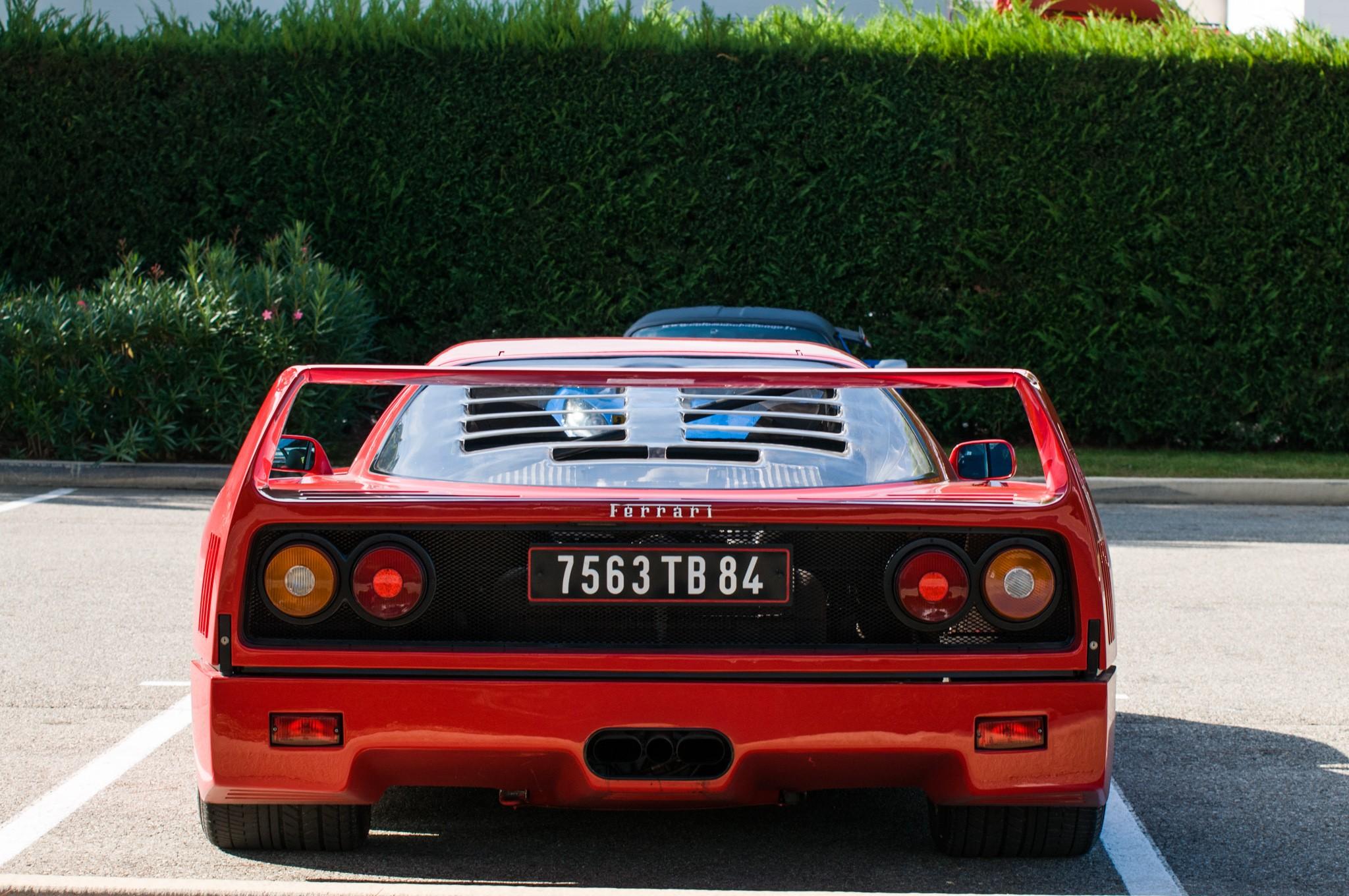Wallpaper  red, supercars, sports car, Ferrari F40