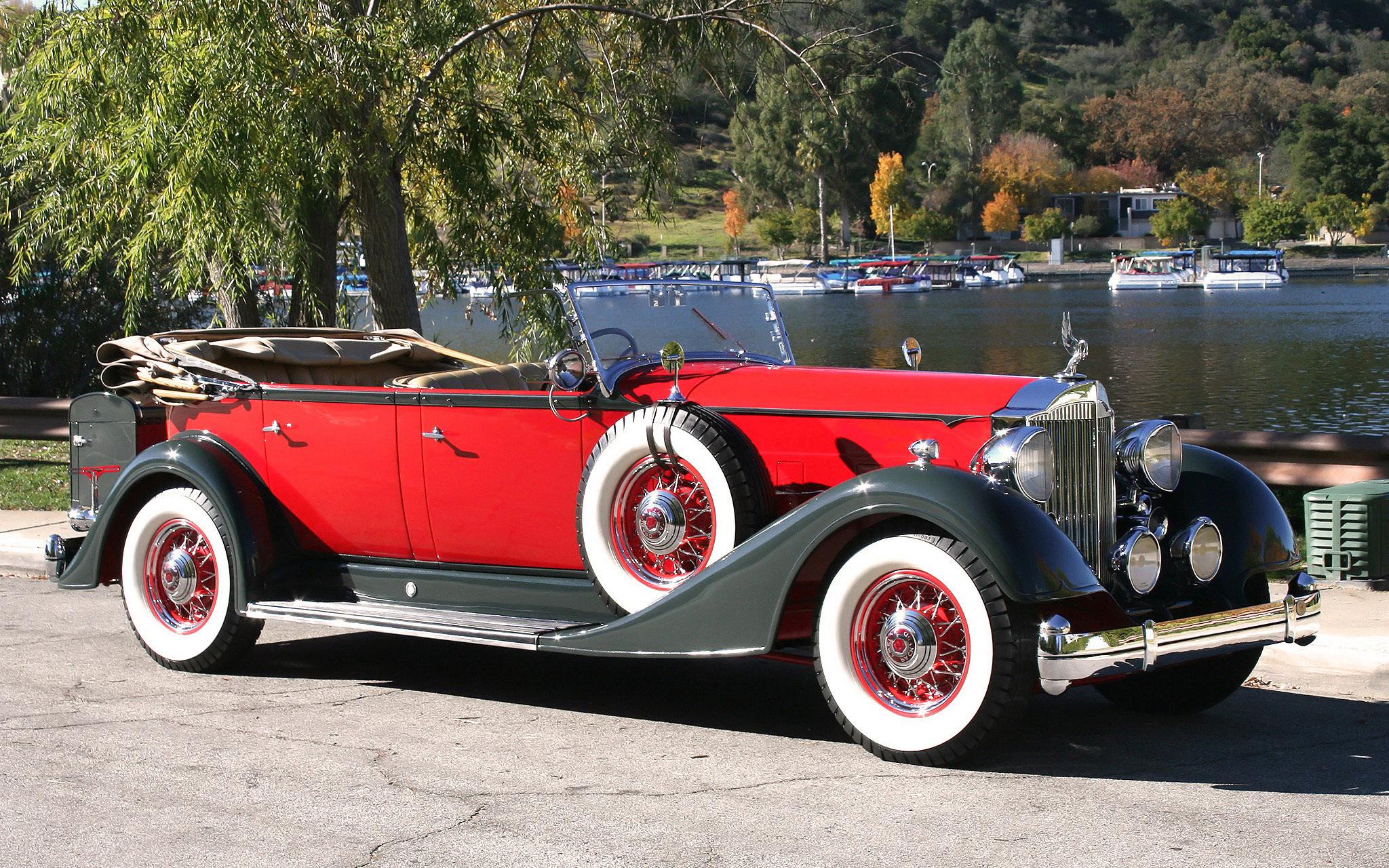 Wallpaper Red Vintage Vintage Car Classic Car Hot Rod Packard