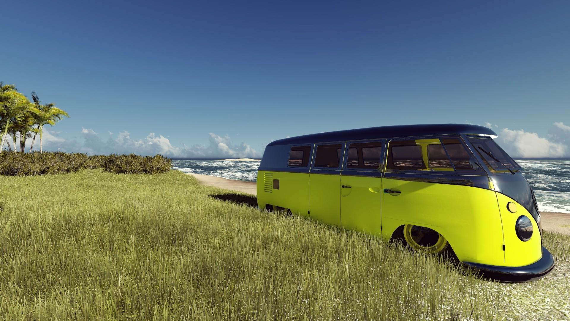 Fondos De Pantalla Coche Hacer Playa Volkswagen Vw