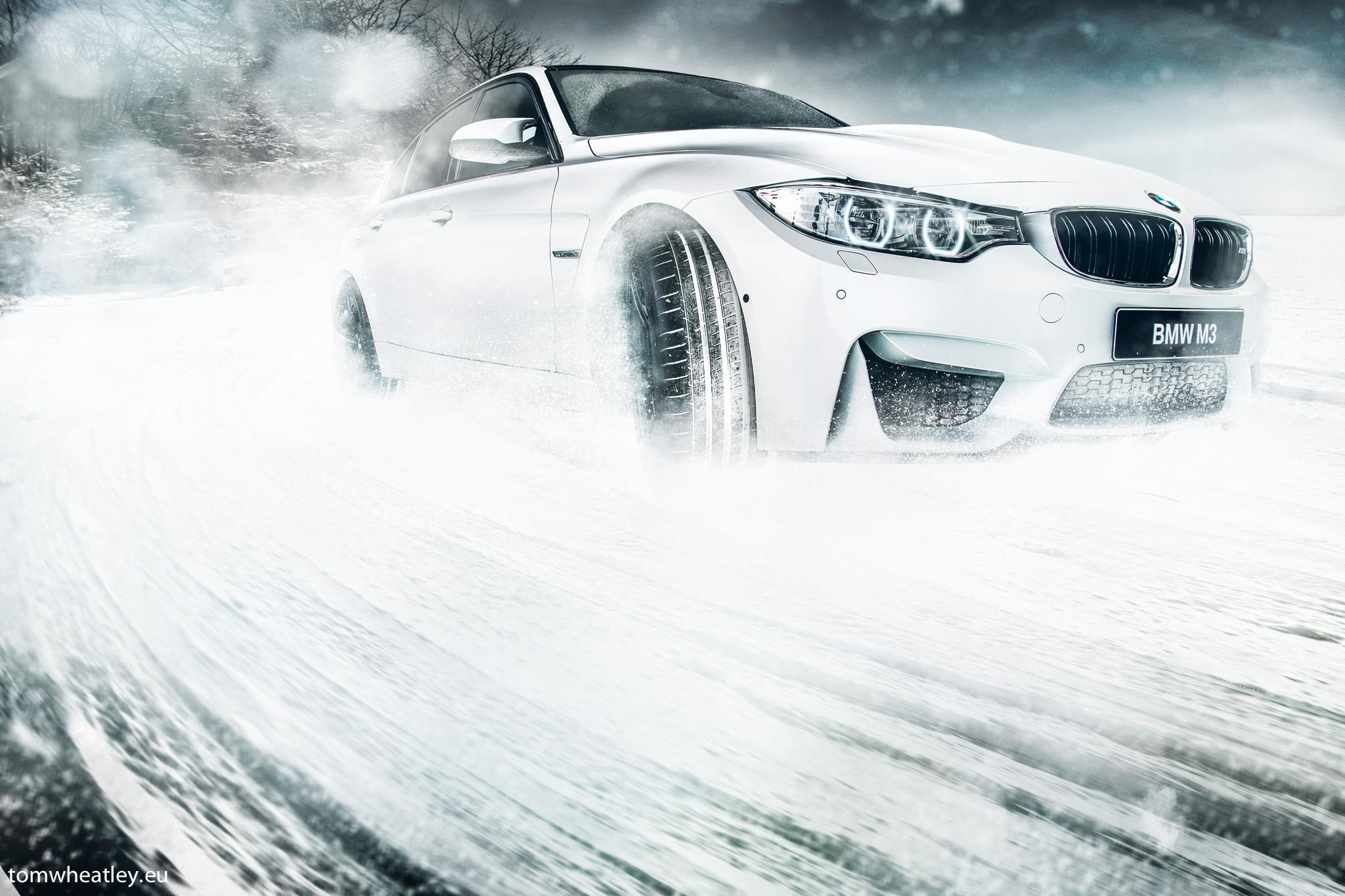 Wallpaper : snow, BMW, France, sports car, drift, F10 ...