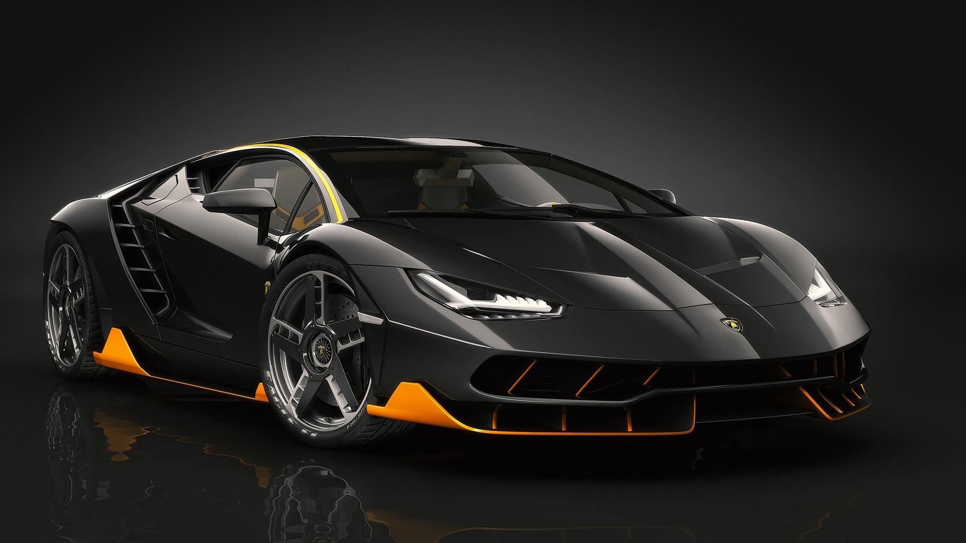 Wallpaper : car, supercars, vehicle, Lamborghini, black ...