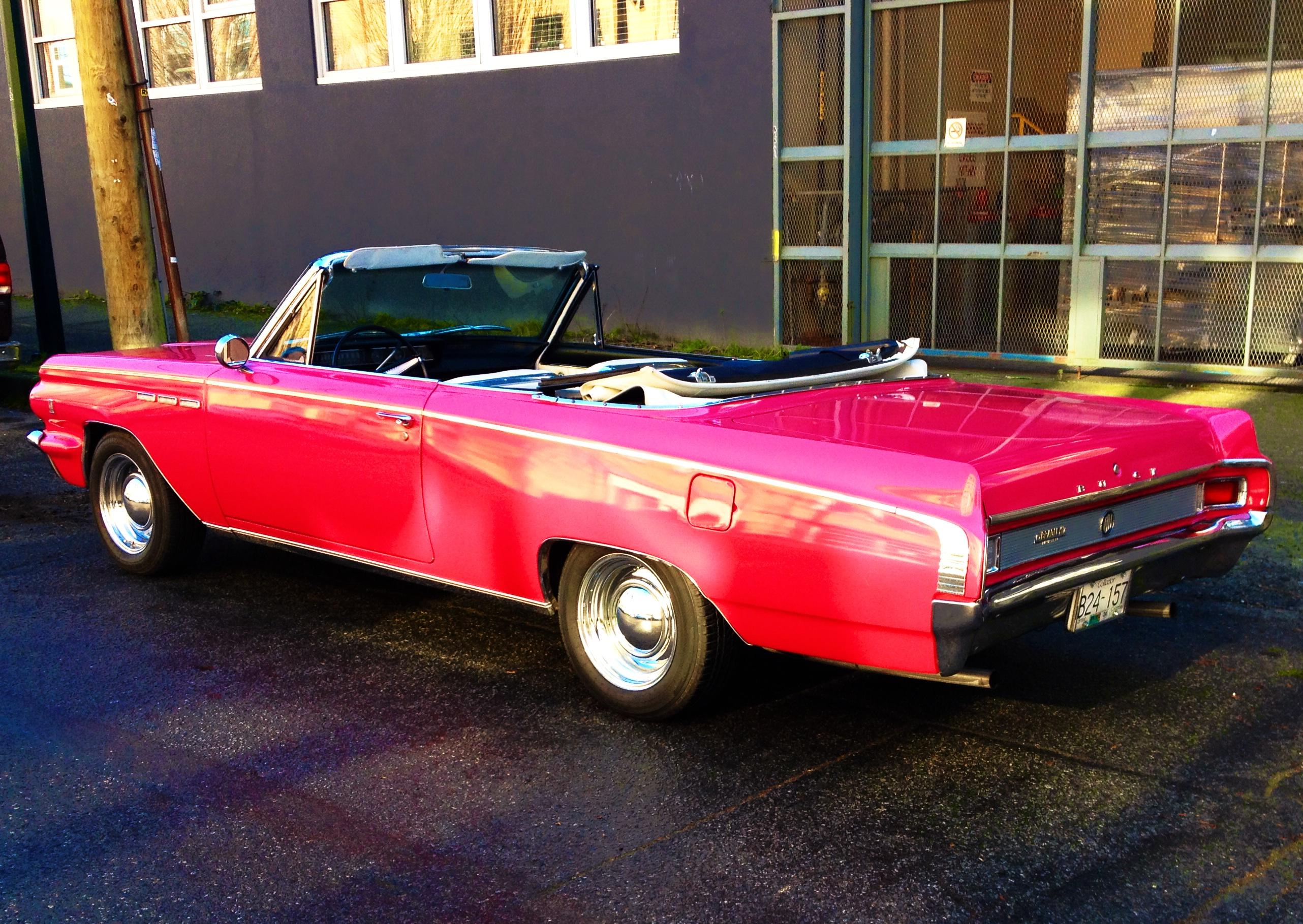 Baggrunde : Buick, lyserød, Vintage bil, klassisk bil, Cabriolet, Vancouver, 1960'erne, Sedan ...