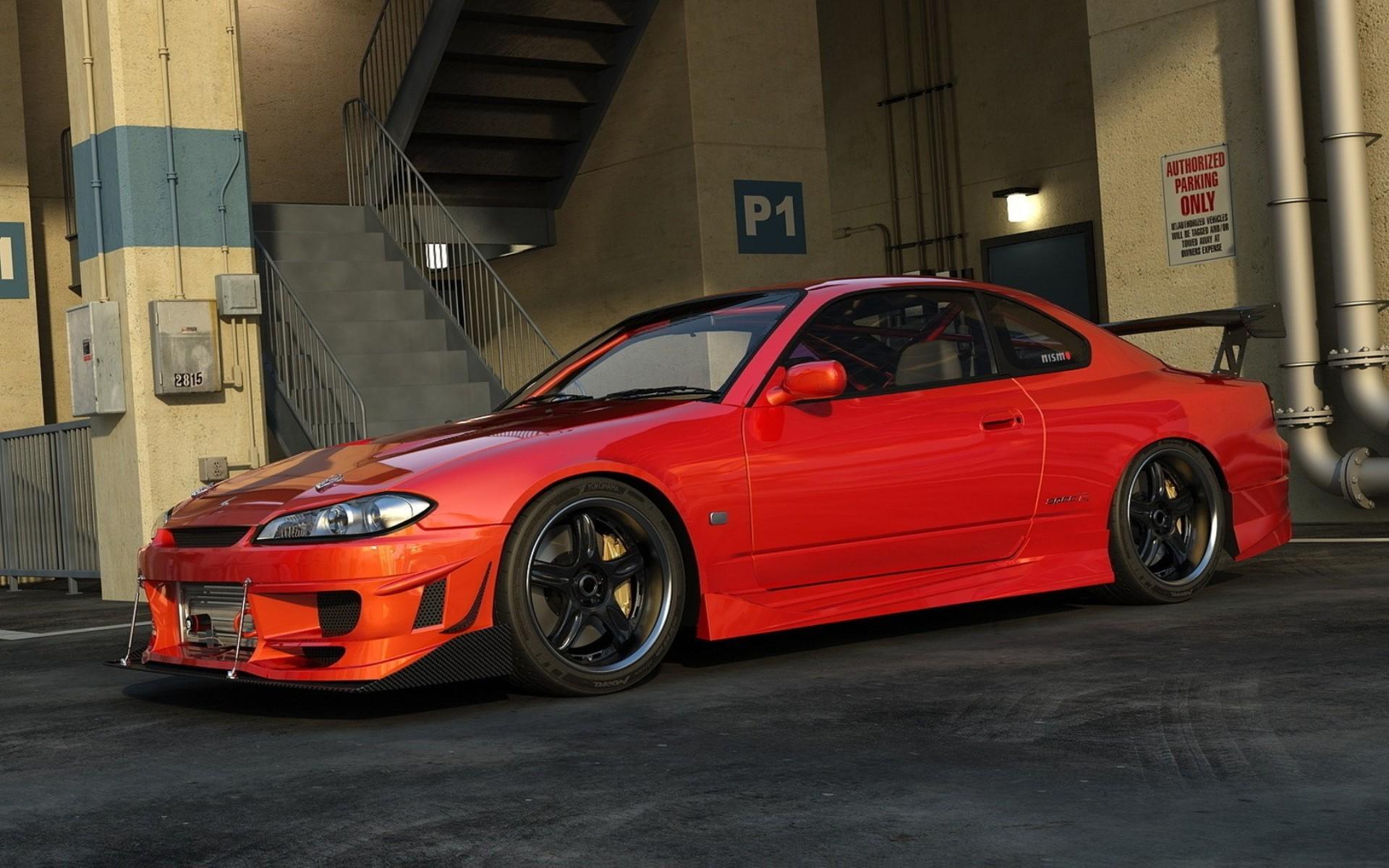 Car Vehicle CGI Nissan JDM Sports Car Tuning Racing Nissan Silvia S15  Convertible Nissan Silvia Performance