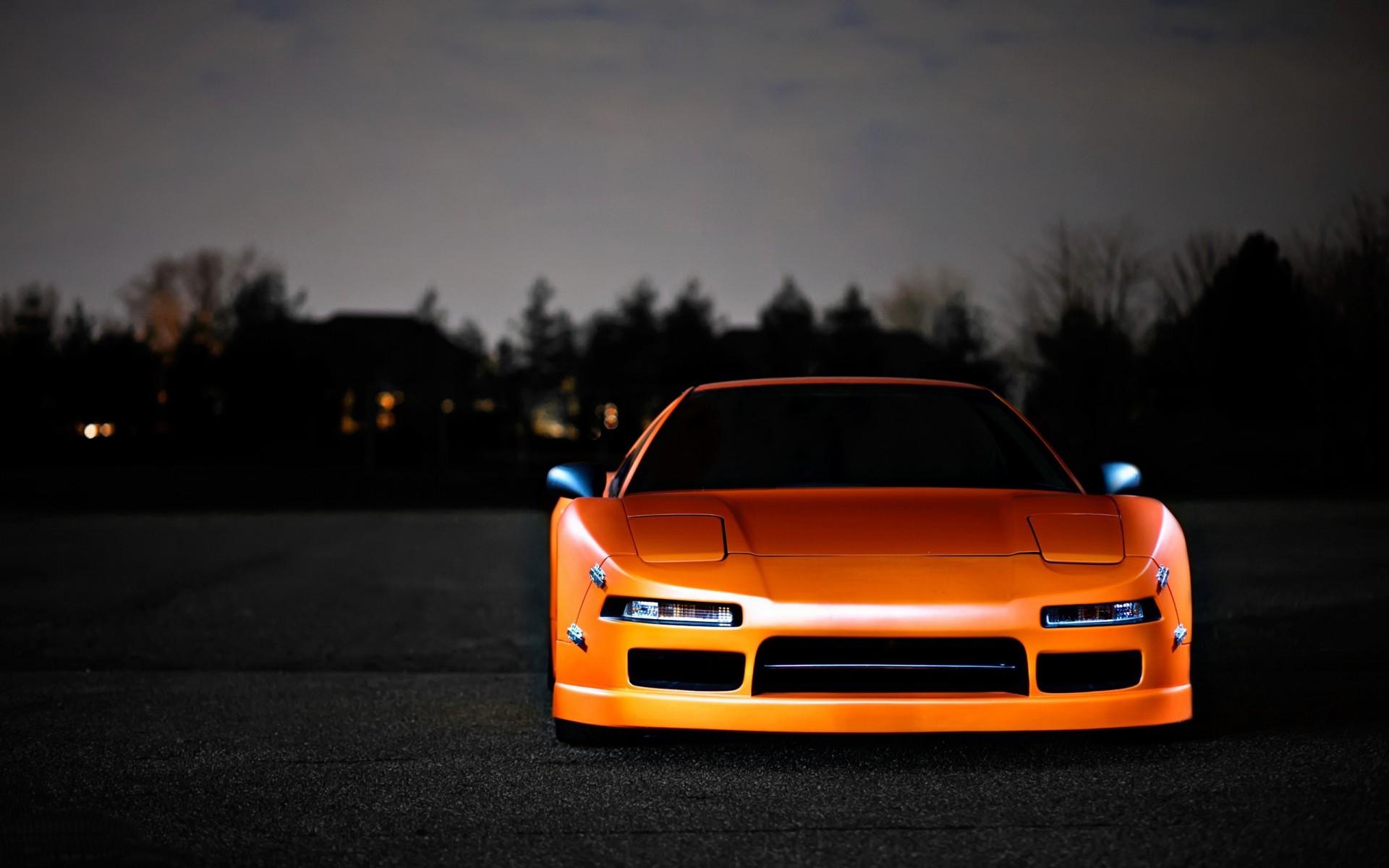 Wallpaper : JDM, orange cars, sports car, Honda NSX, coupe