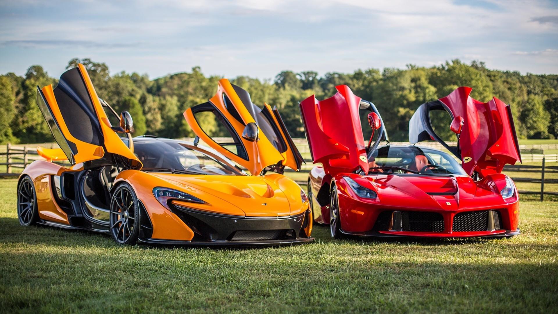 Wallpaper : Lamborghini Aventador, McLaren P1, sports car ...
