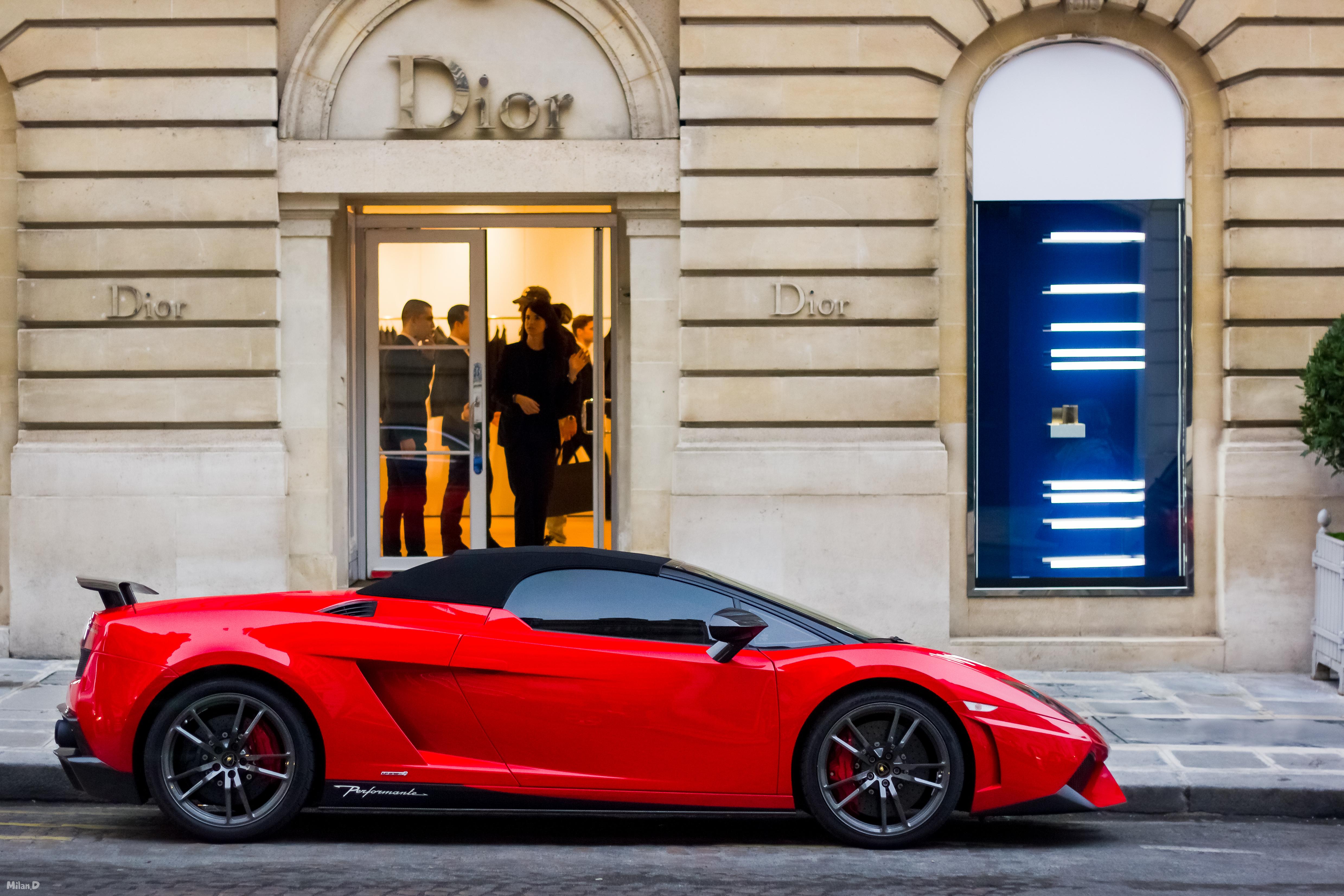 Wallpaper Canon Paris Lamborghini Gallardo Sports Car Spider