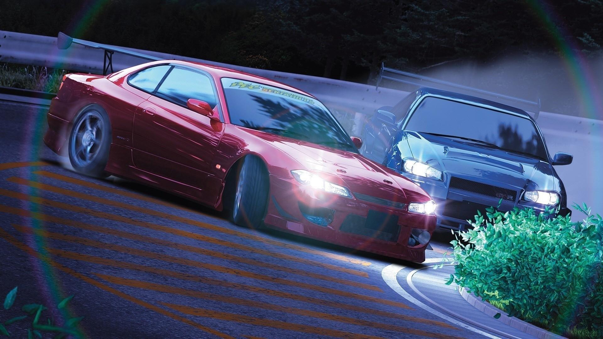 デスクトップ壁紙 スポーツカー ドリフト 日産スカイラインgt R R34 日産シルビアスペックr 運転 パフォーマンスカー ホイール スーパーカー 陸上車両 自動車デザイン 自動車メーカー 高級車 オートレース 19x1080 Vexel78 デスクトップ壁紙