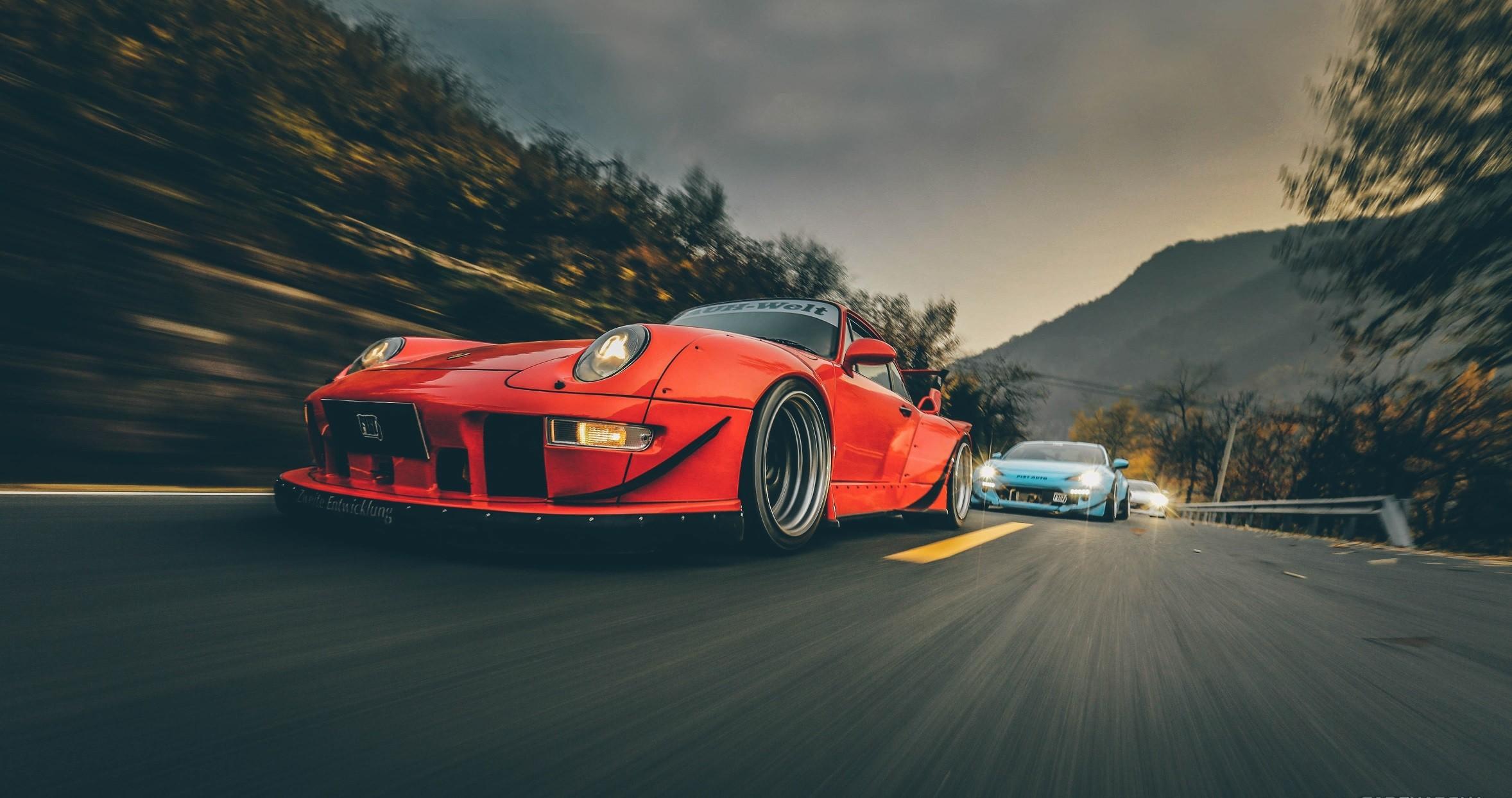 Fondos De Vehiculos: Fondos De Pantalla : Vehículo, Porsche, Coches Rojos