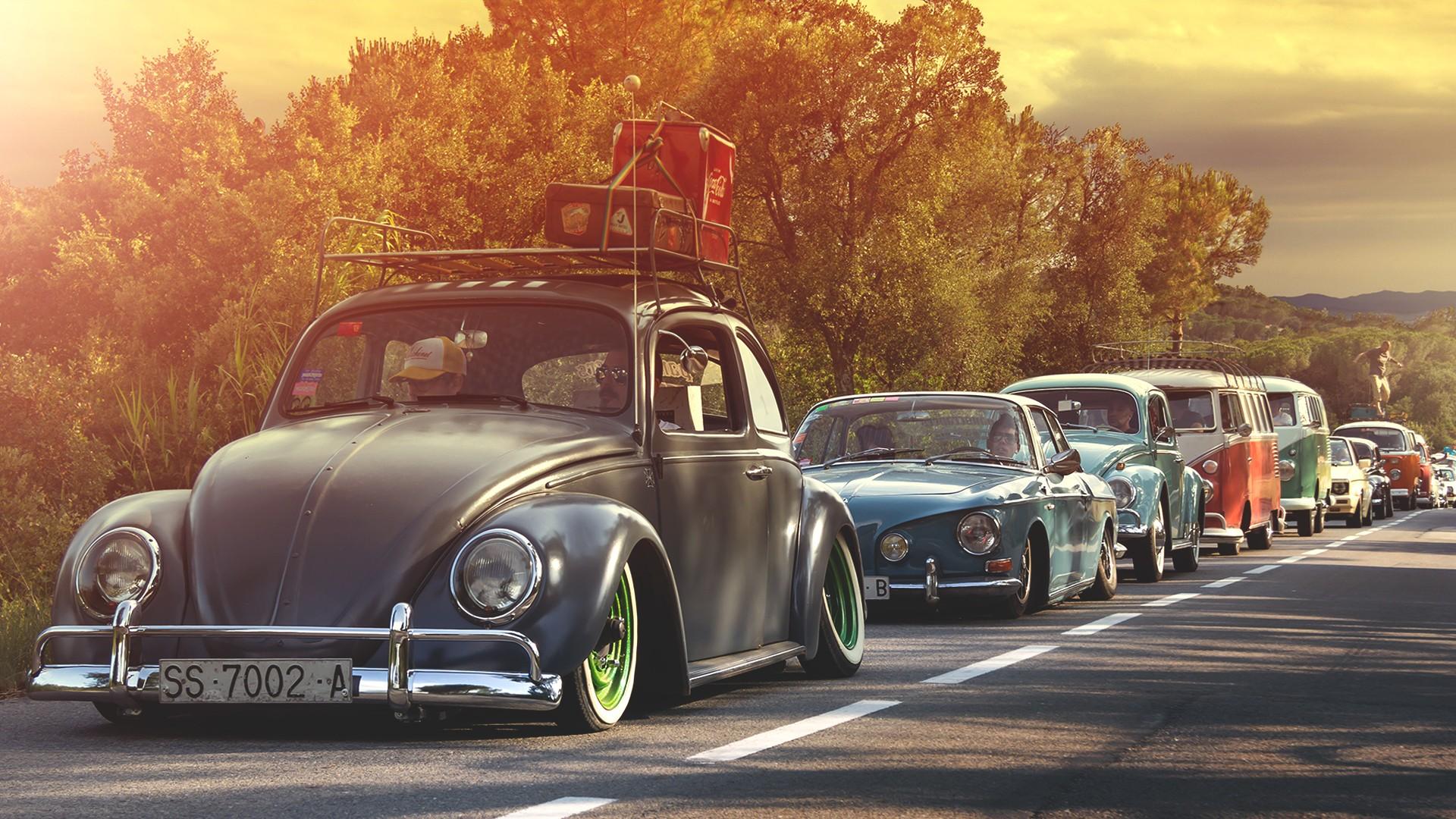 Wallpaper Volkswagen Beetle Volkswagen Combi Vintage Car Hot